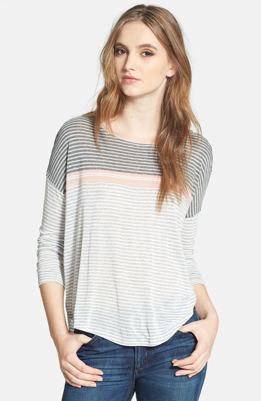 Alternate Image 1 Selected - Soft Joie Mix Stripe Tee