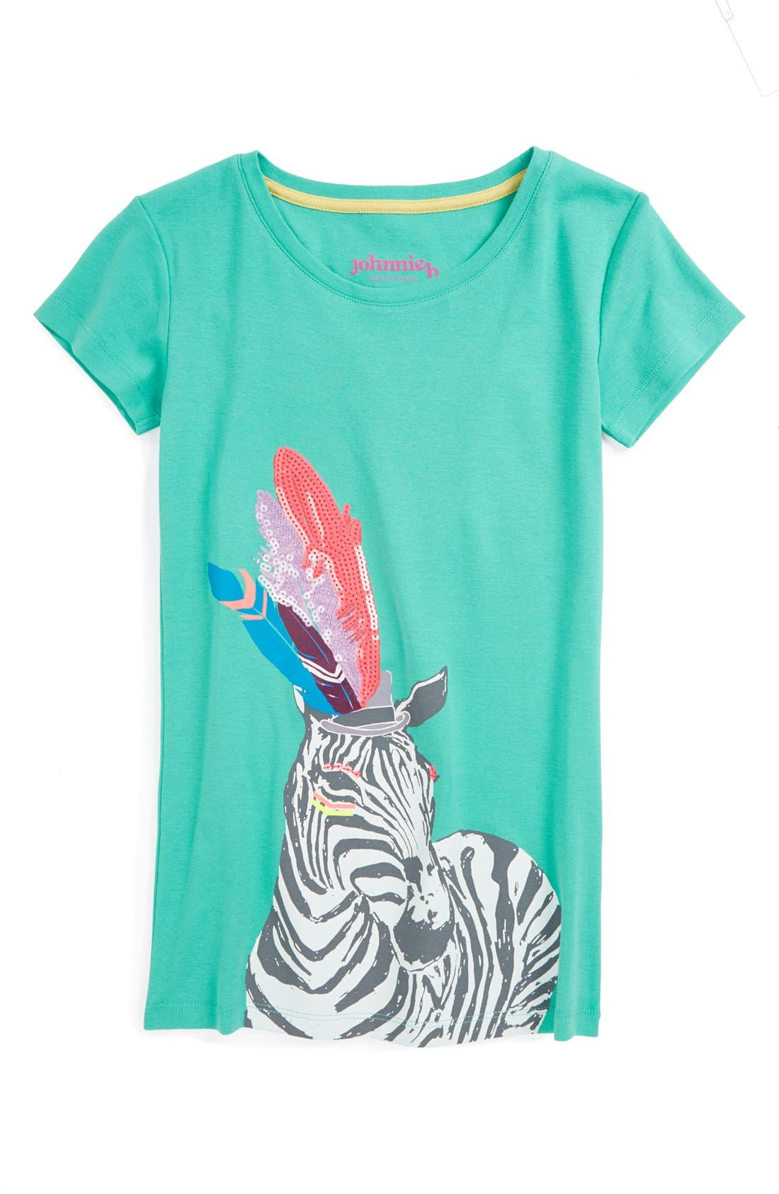 Main Image - Johnnie B by Boden Embellished Graphic Tee (Big Girls)