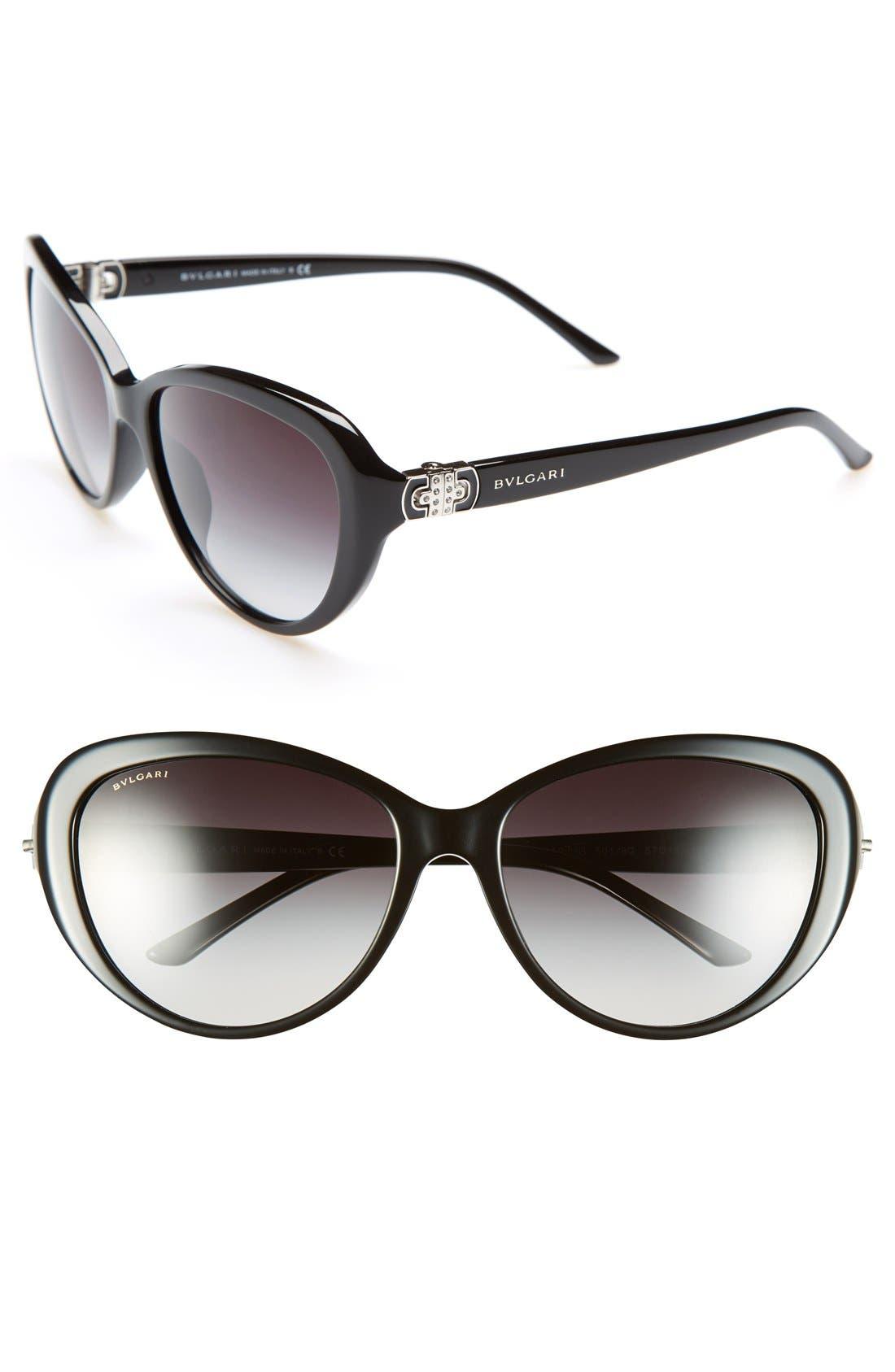 Alternate Image 1 Selected - BVLGARI Oversized 57mm Sunglasses