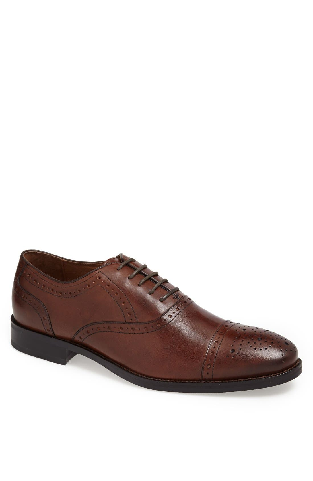 Alternate Image 1 Selected - Johnston & Murphy 'Tyndall' Cap Toe Oxford (Online Only)