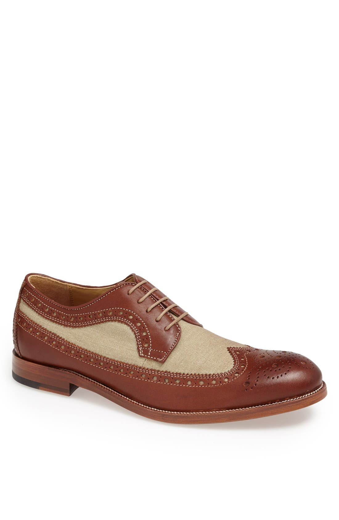 Main Image - Johnston & Murphy 'Clayton' Longwing Spectator Shoe (Online Only)