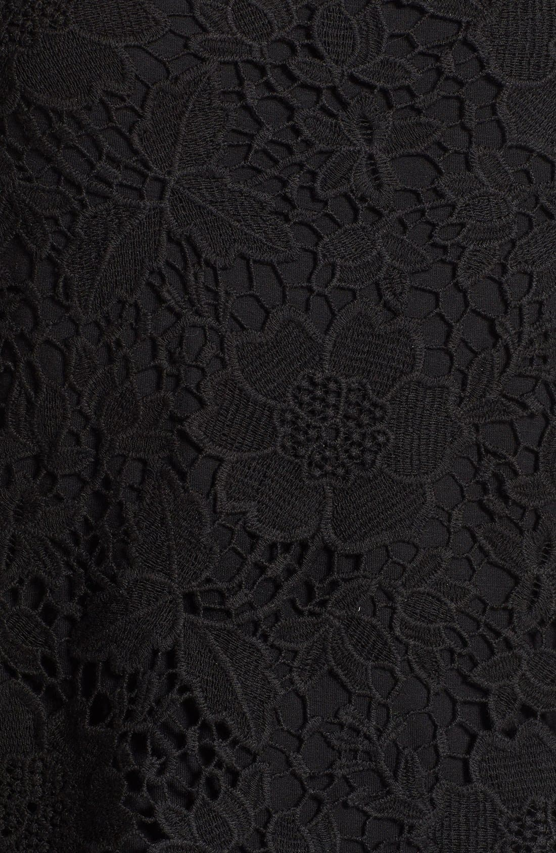 Alternate Image 3  - Velvet by Graham & Spencer Lace Overlay Shell