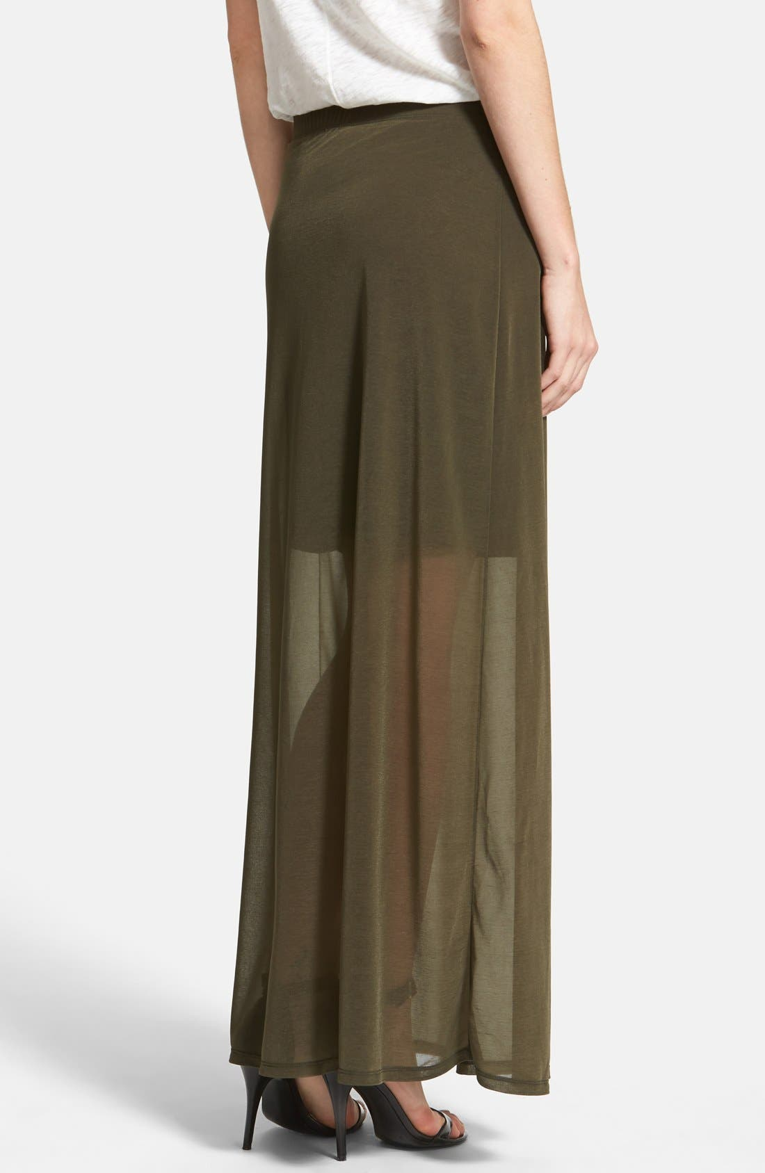 Alternate Image 2  - Halogen® Sheer Overlay Maxi Skirt (Regular & Petite)