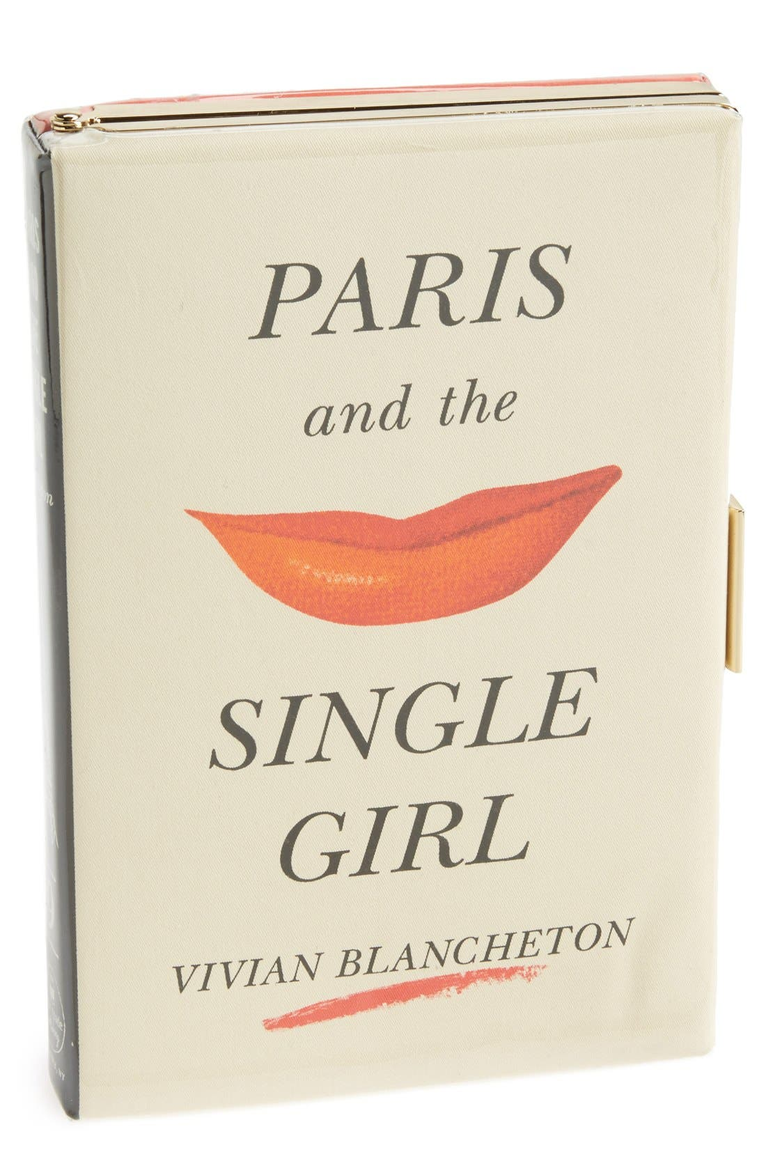 Alternate Image 1 Selected - kate spade new york 'paris and the single girl - book emanuelle' box clutch