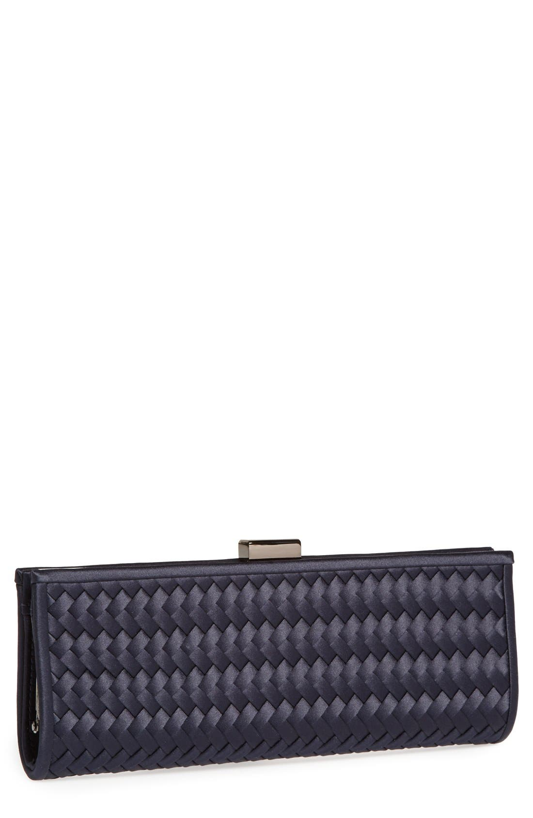 Main Image - La Regale Woven Satin Clutch