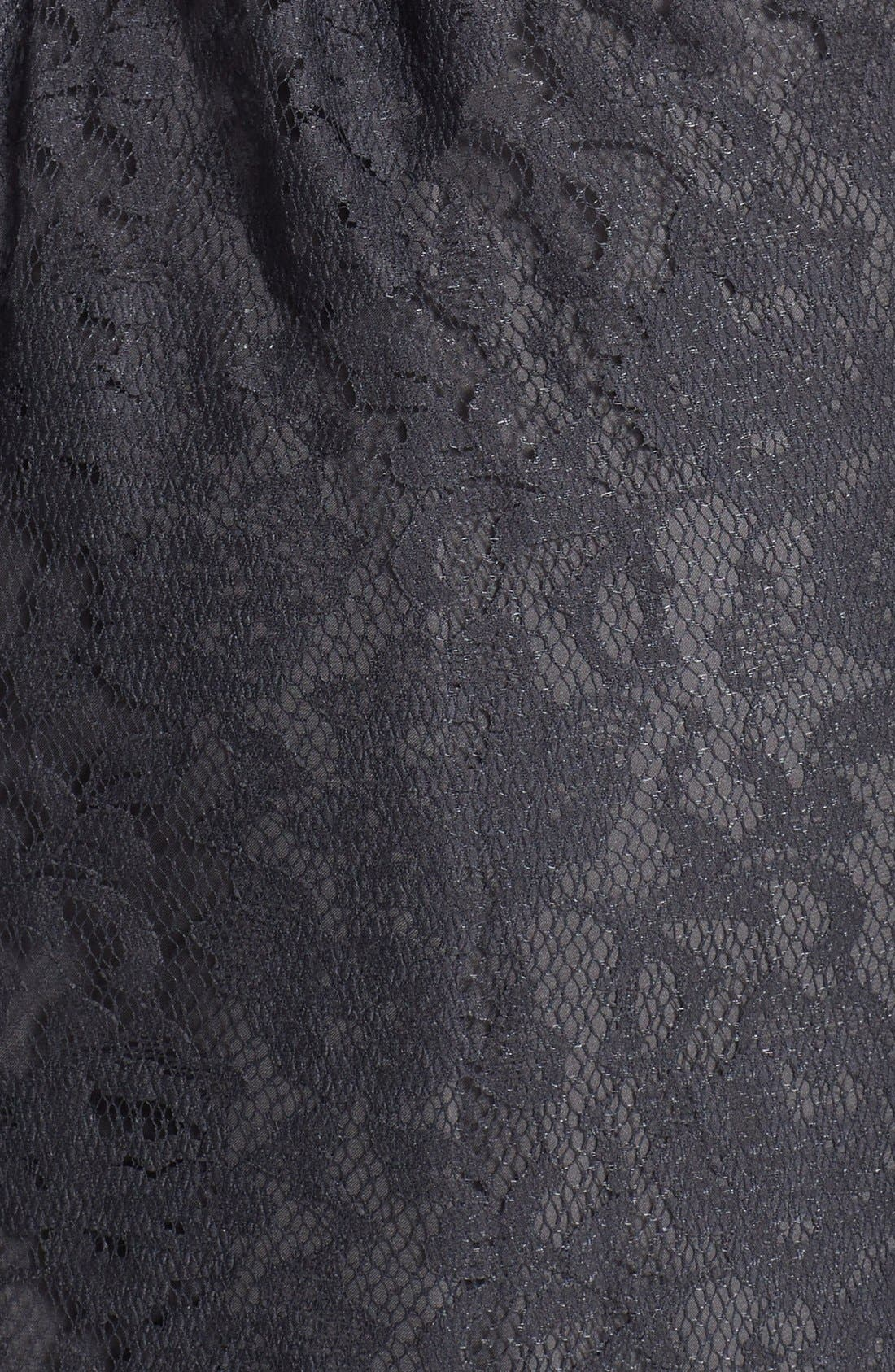 Alternate Image 3  - Amsale One-Shoulder Lace Gown