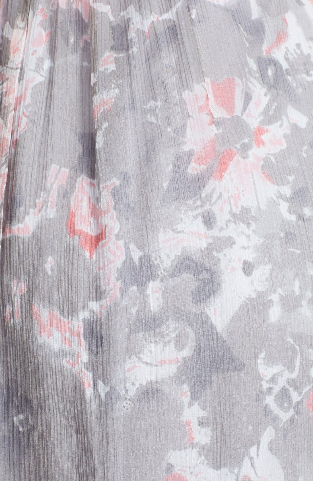 Alternate Image 3  - Amsale 'Amore' Floral Print Silk Chiffon Gown