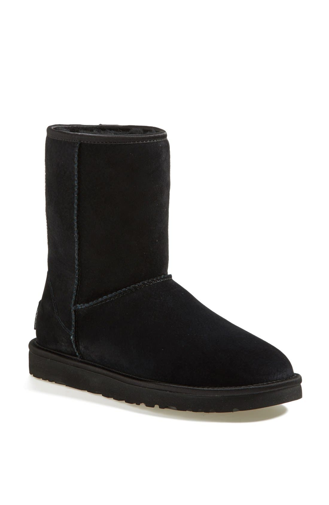 Alternate Image 1 Selected - UGG® Australia 'Classic Short - Crystal Bow' Water Resistant Suede Boot (Women)