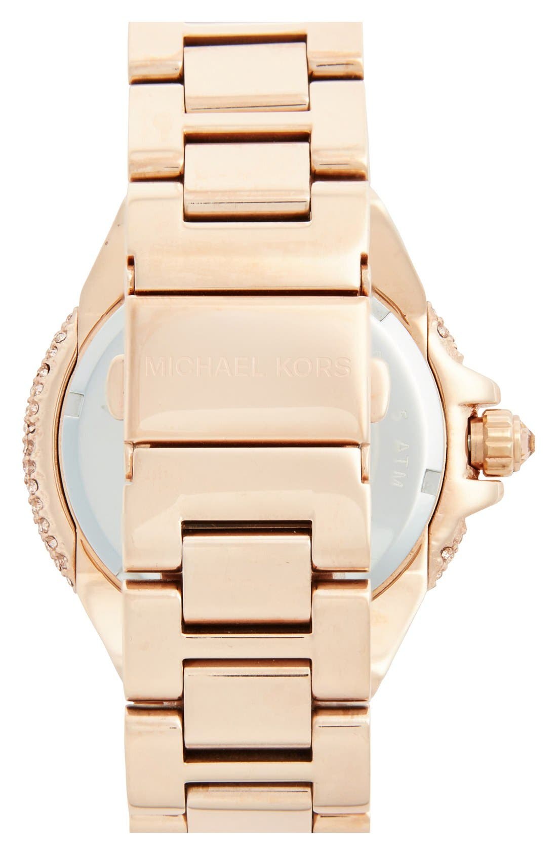 Alternate Image 2  - Michael Kors 'Camille' Crystal Encrusted Bracelet Watch, 44mm
