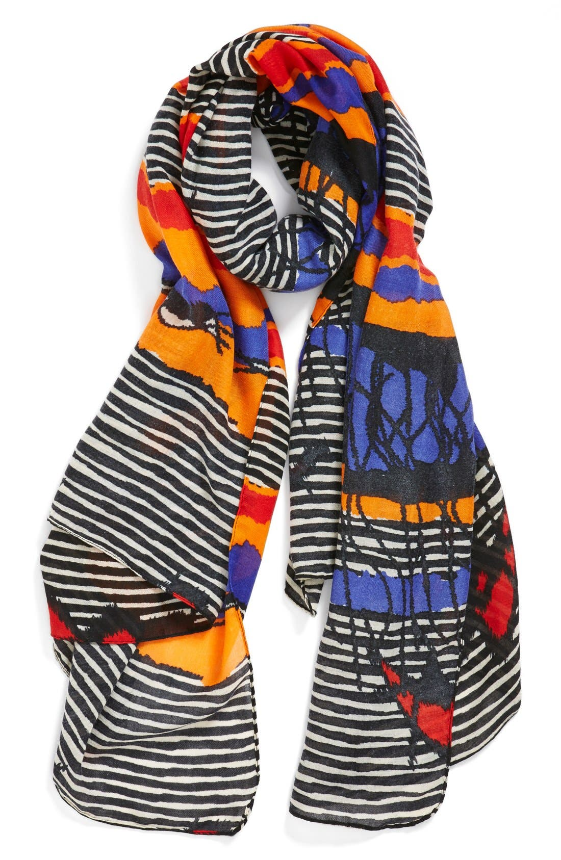 Main Image - Leith 'Abstract Safari' Oversized Oblong Scarf