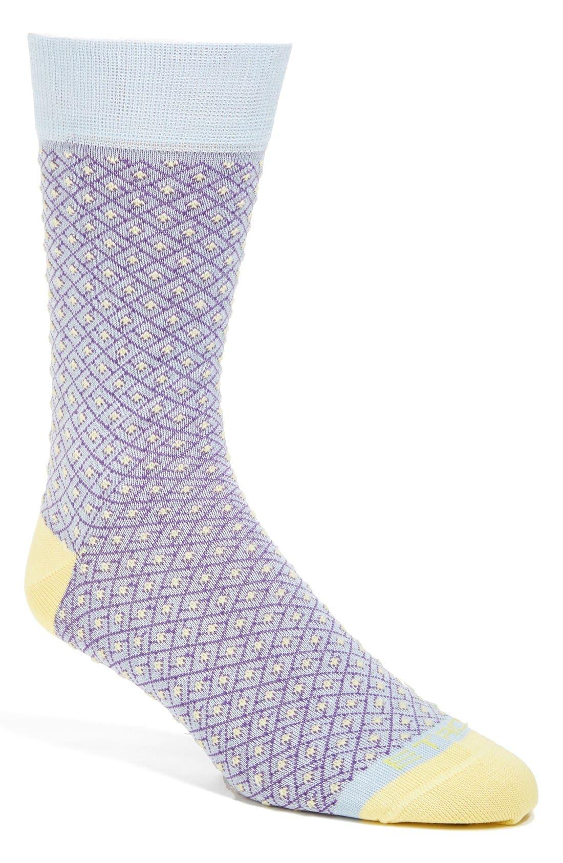 Alternate Image 1 Selected - Etro Grid Socks