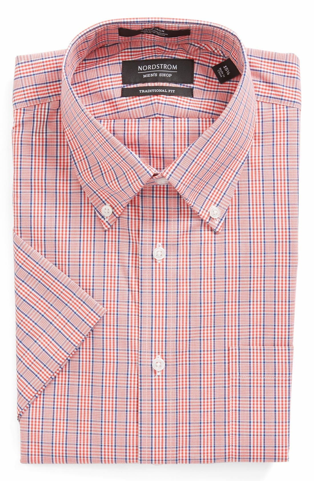 Alternate Image 1 Selected - Nordstrom Traditional Fit Non-Iron Short Sleeve Dress Shirt