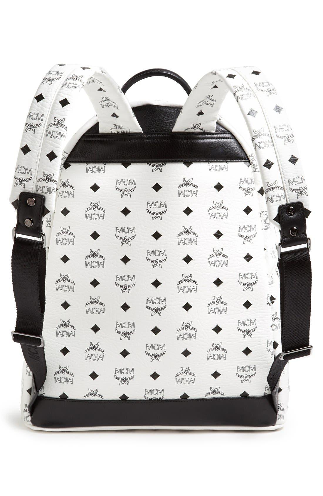Alternate Image 4  - MCM 'Medium Stark' Logo Print Backpack