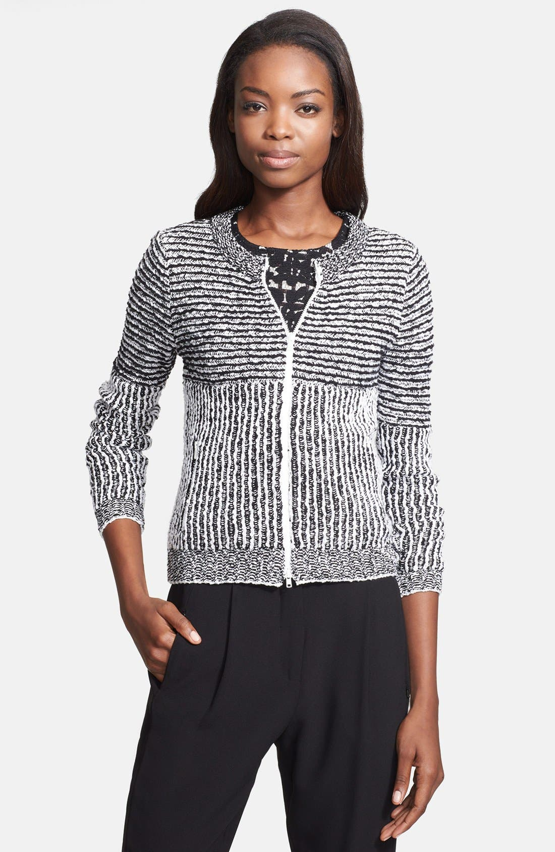 Alternate Image 1 Selected - Tracy Reese Front Zip Sweater Cardigan