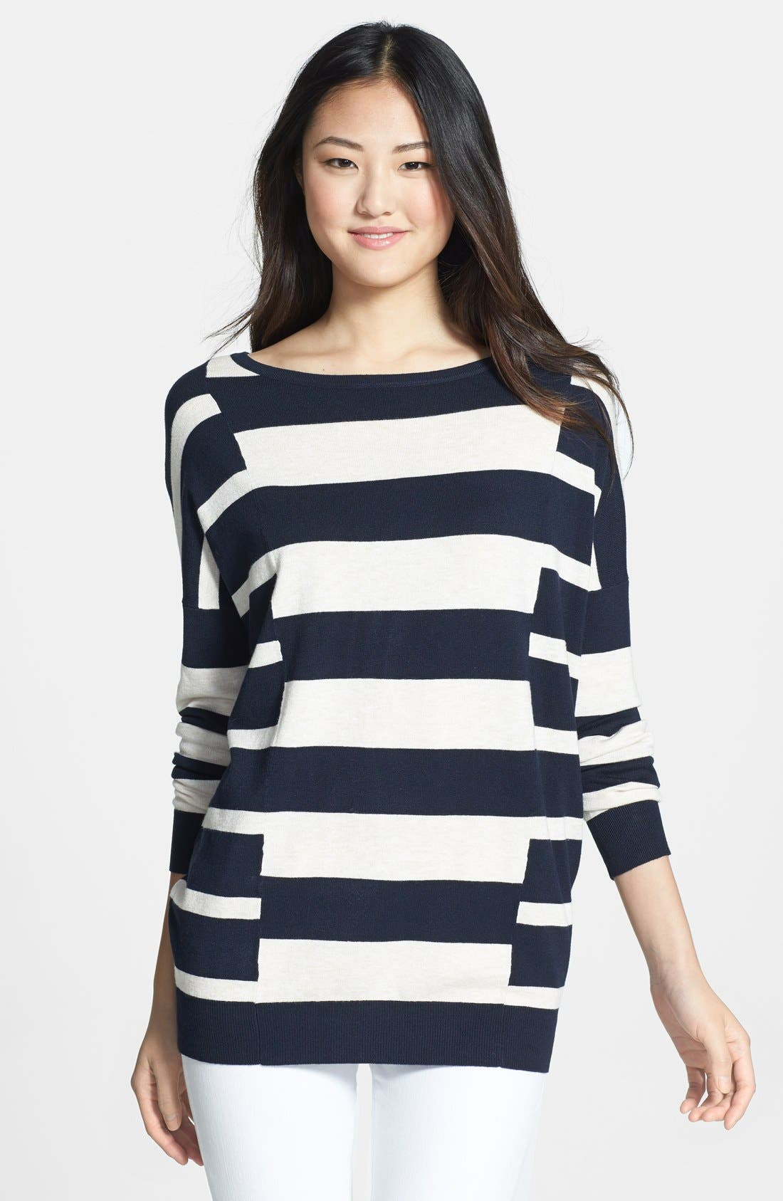 Alternate Image 1 Selected - Wallis Stripe Block Sweater