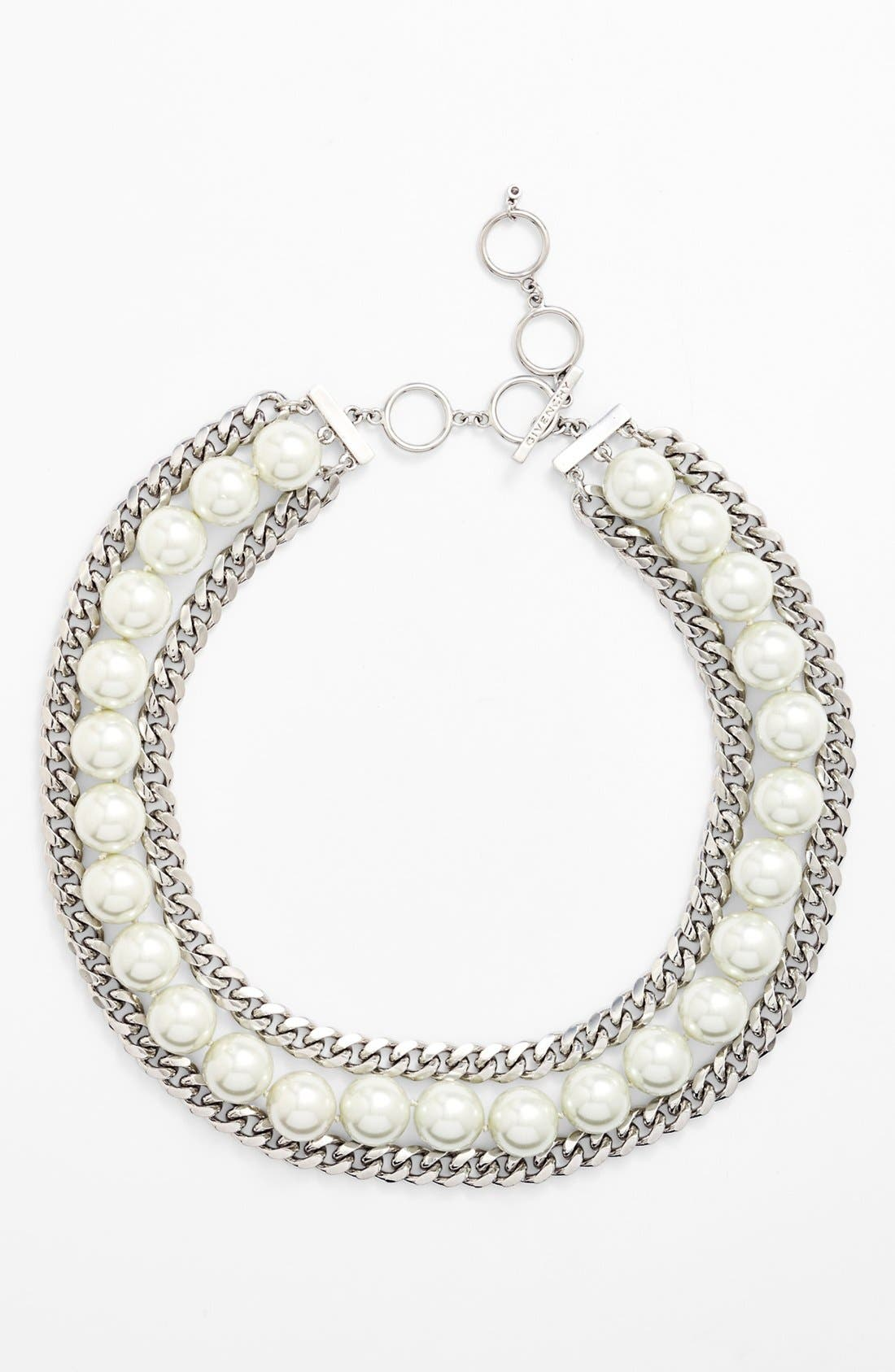 Alternate Image 2  - Givenchy Faux Pearl & Link Bib Necklace (Nordstrom Exclusive)