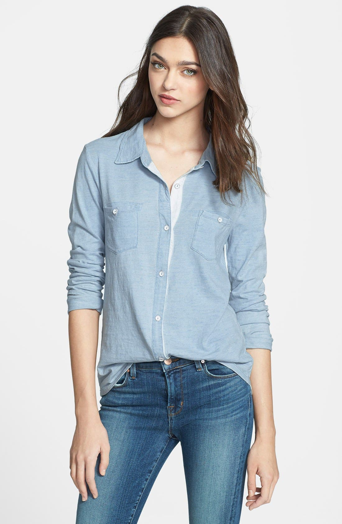 Alternate Image 1 Selected - Splendid Cotton Knit Shirt