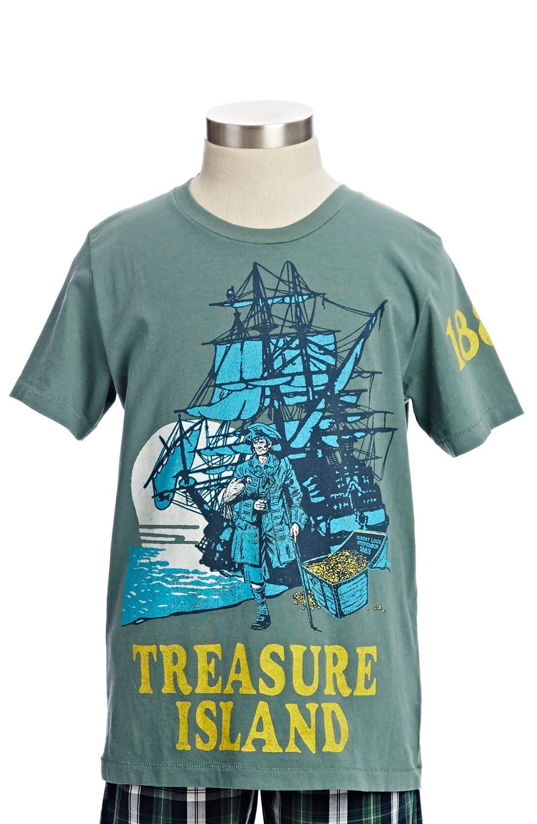 Alternate Image 1 Selected - Peek 'Treasure Island' T-Shirt (Toddler Boys, Little Boys & Big Boys)