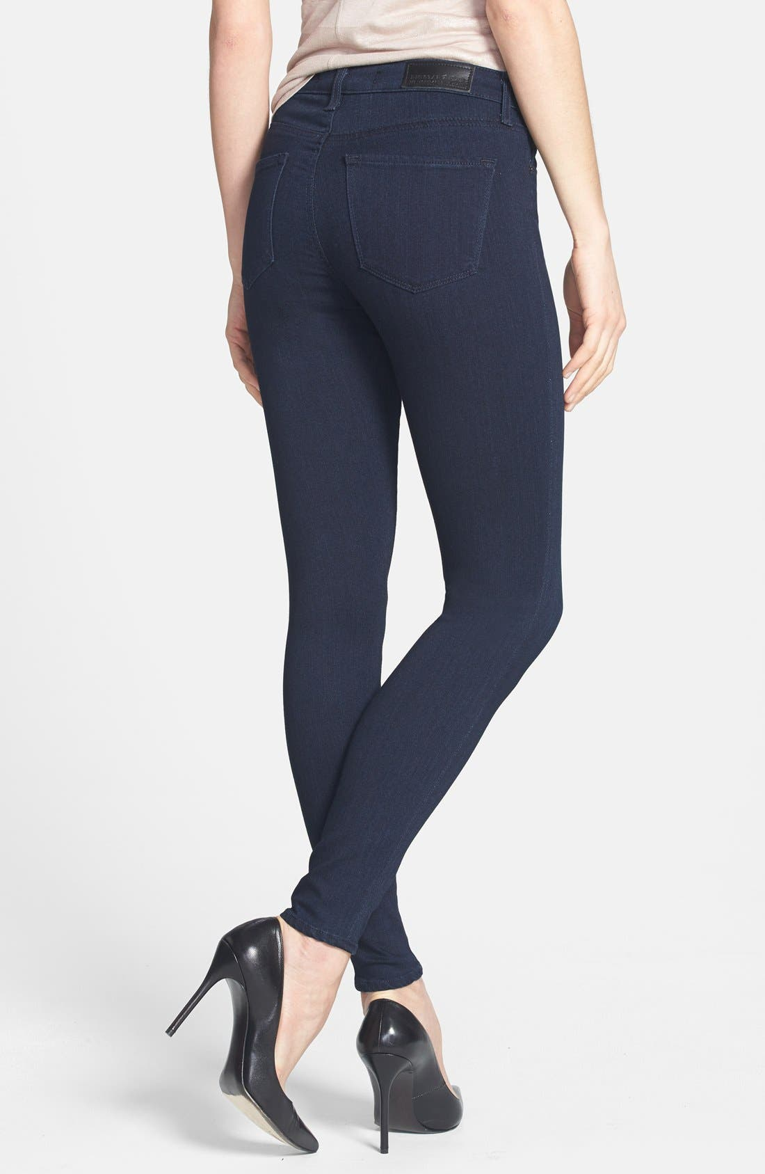 Alternate Image 2  - Big Star 'Ava' Jeans Super Skinny Stretch Jeans (Harmony Dark) (Petite)