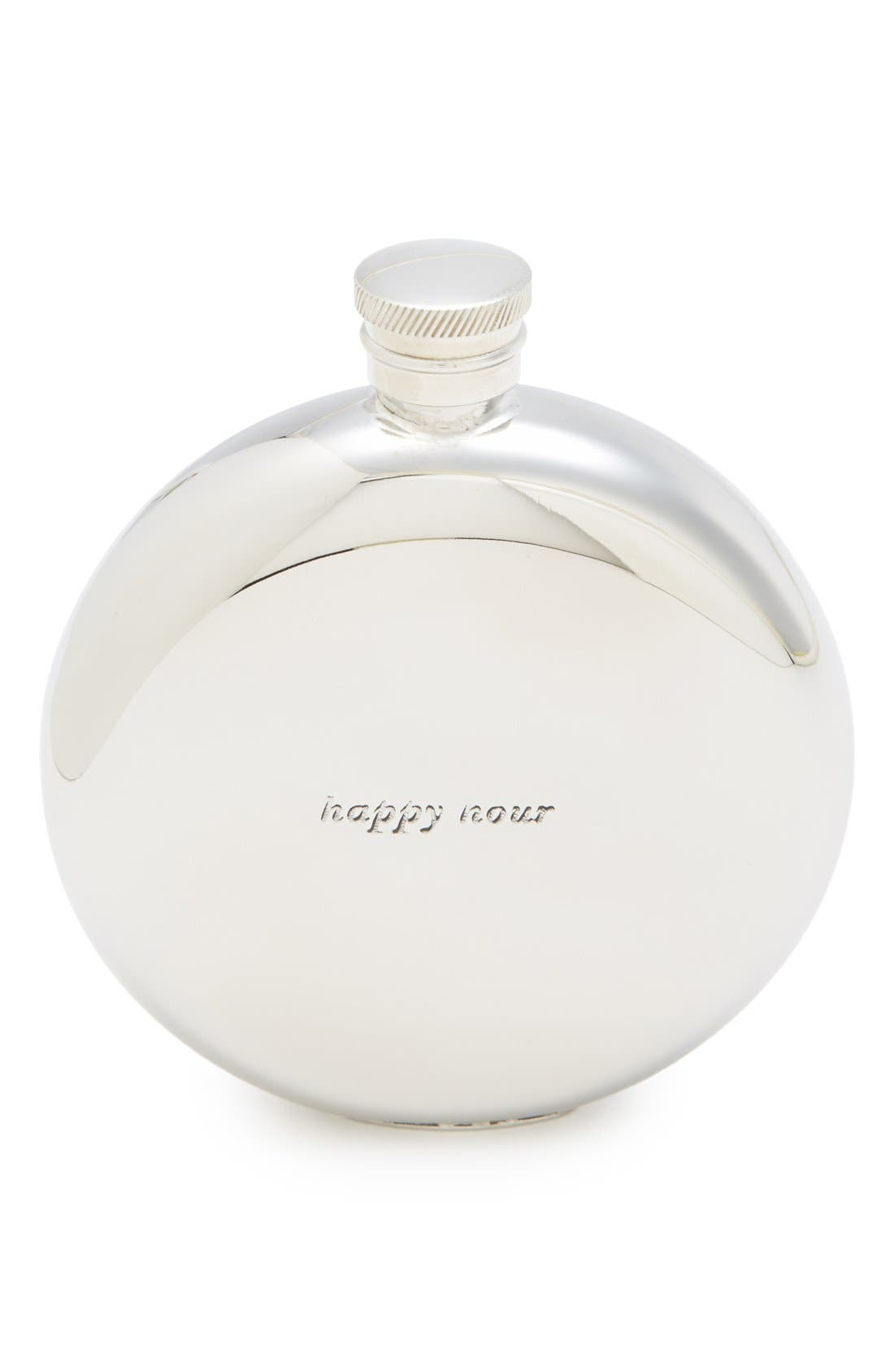 kate spade new york silver street - happy hour 4 1/2-ounce flask