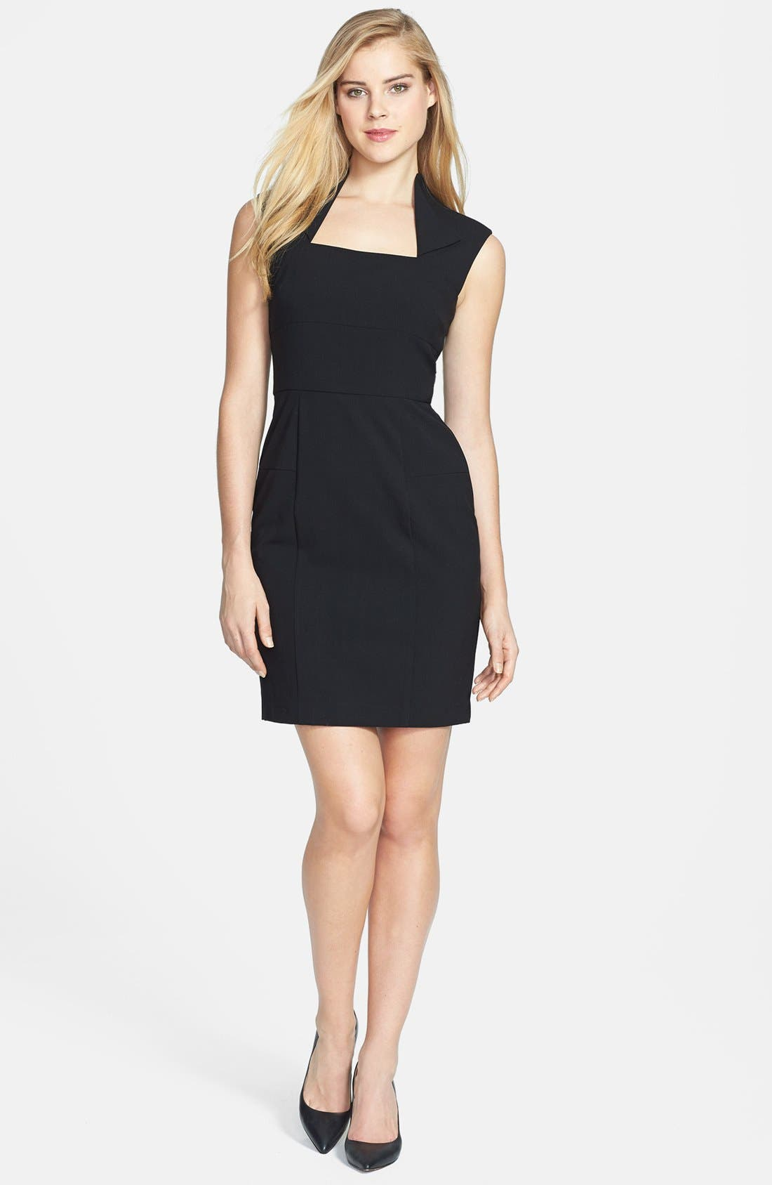 Alternate Image 3  - Marc New York by Andrew Marc Fold Collar Sheath Dress