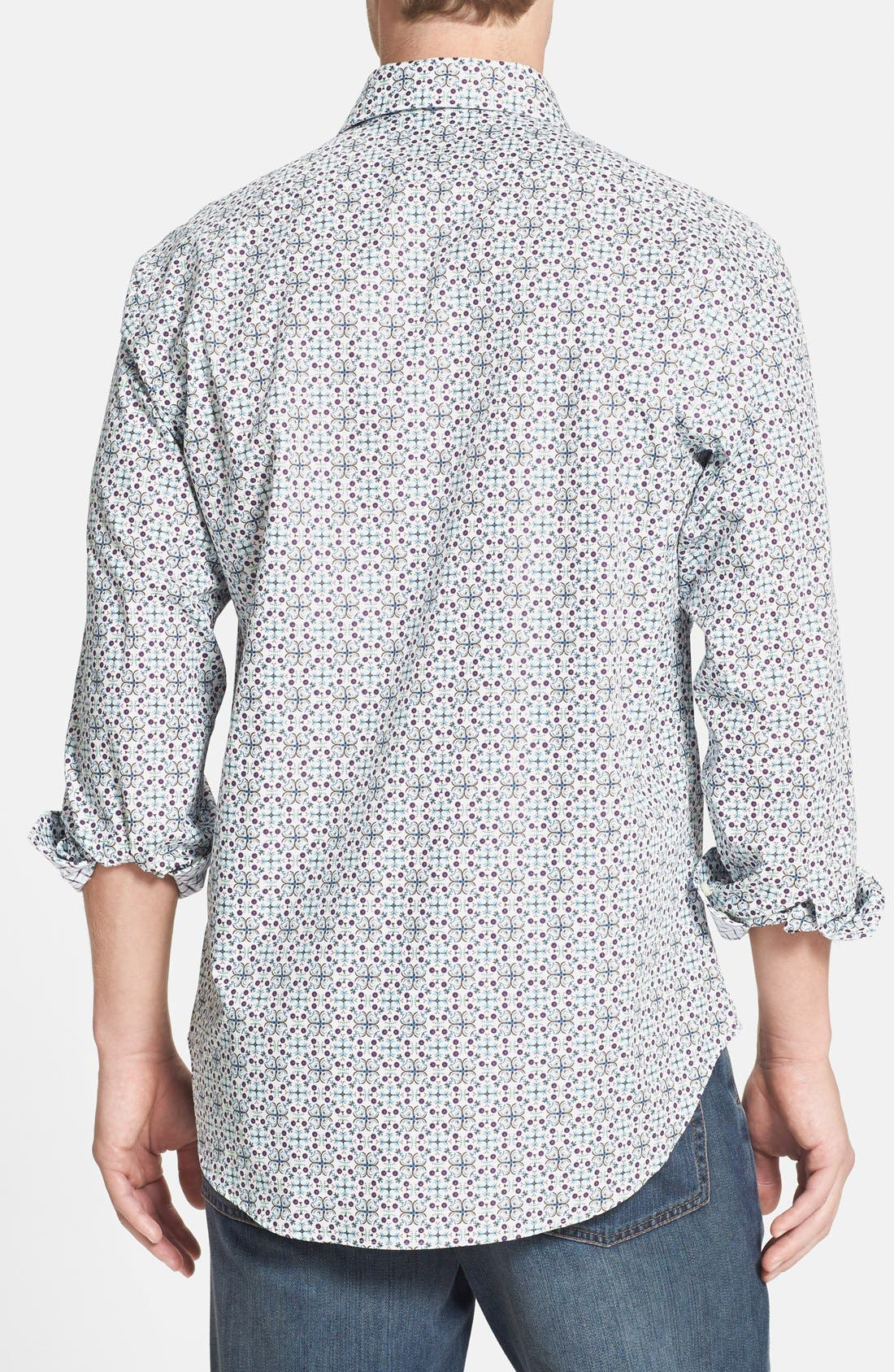 Alternate Image 2  - Thomas Dean Regular Fit Print Sport Shirt