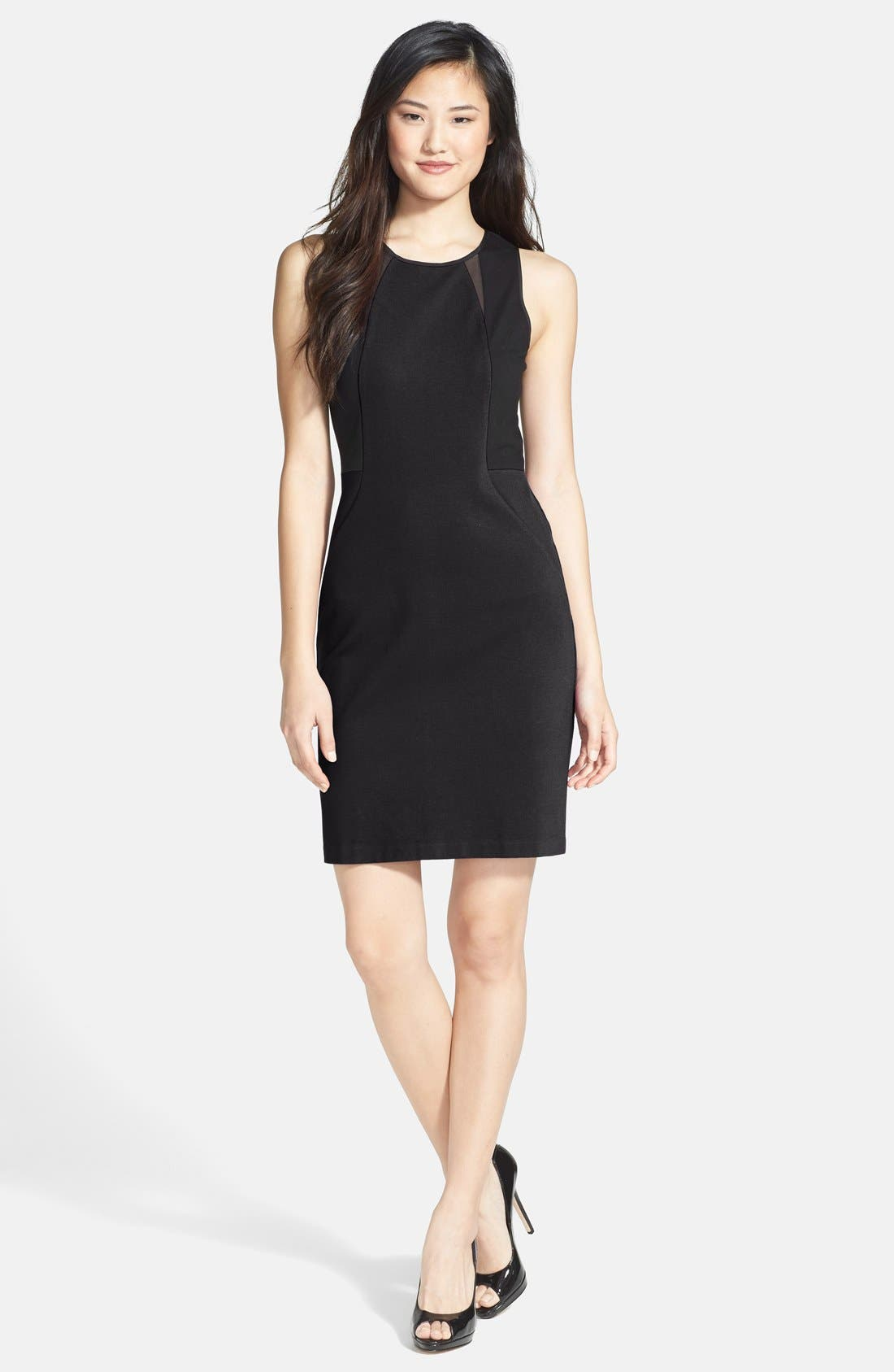 Alternate Image 1 Selected - Kenneth Cole New York 'Irene' Colorblock Dress (Petite)