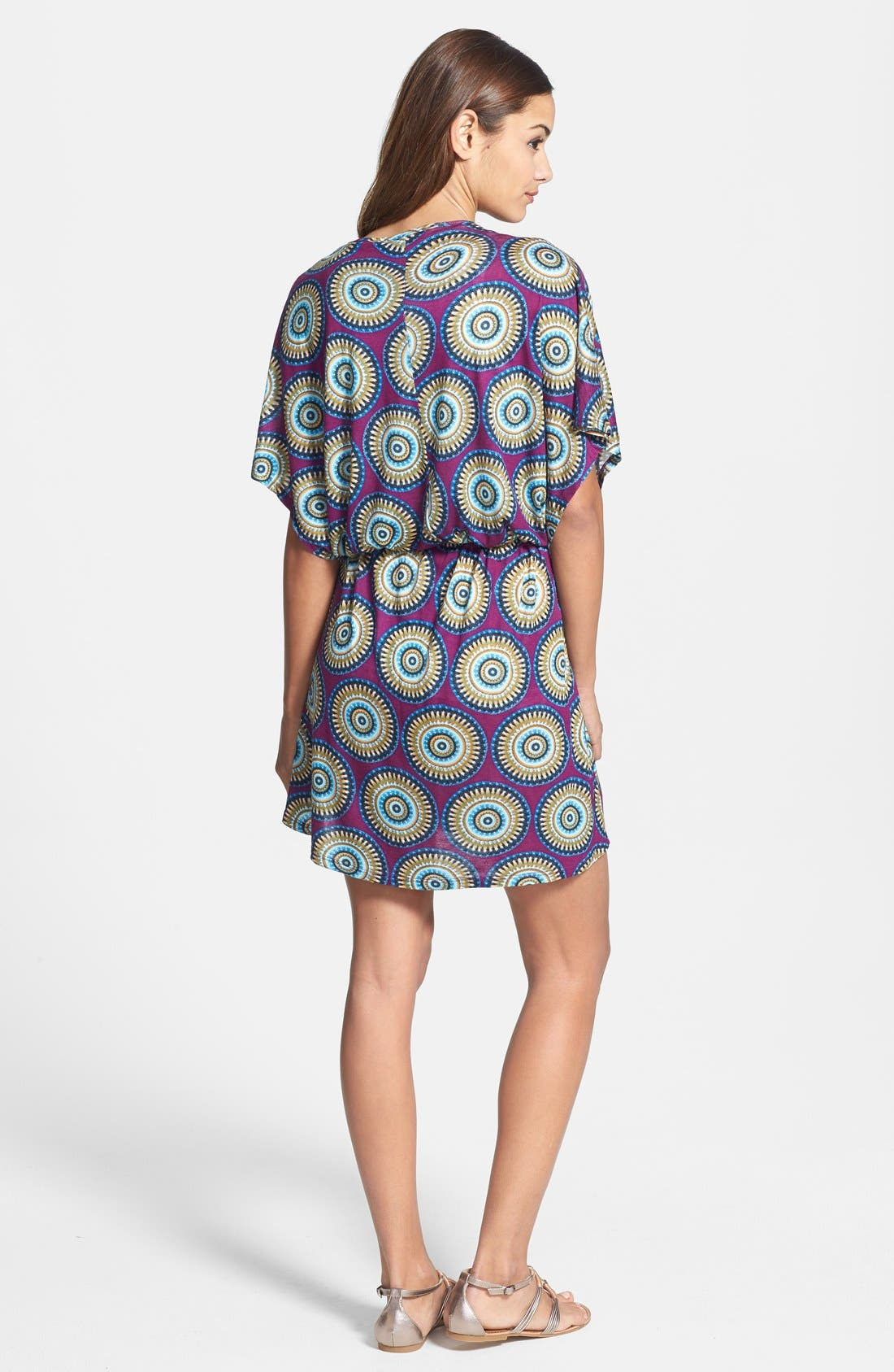 Alternate Image 2  - Loveappella Print Kimono Style Dress