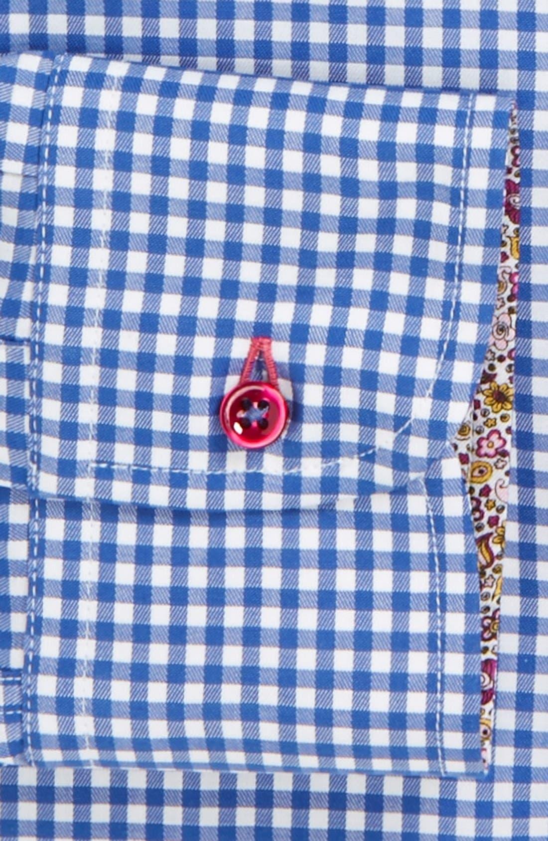 Alternate Image 2  - Sand Extra Trim Fit Check Dress Shirt