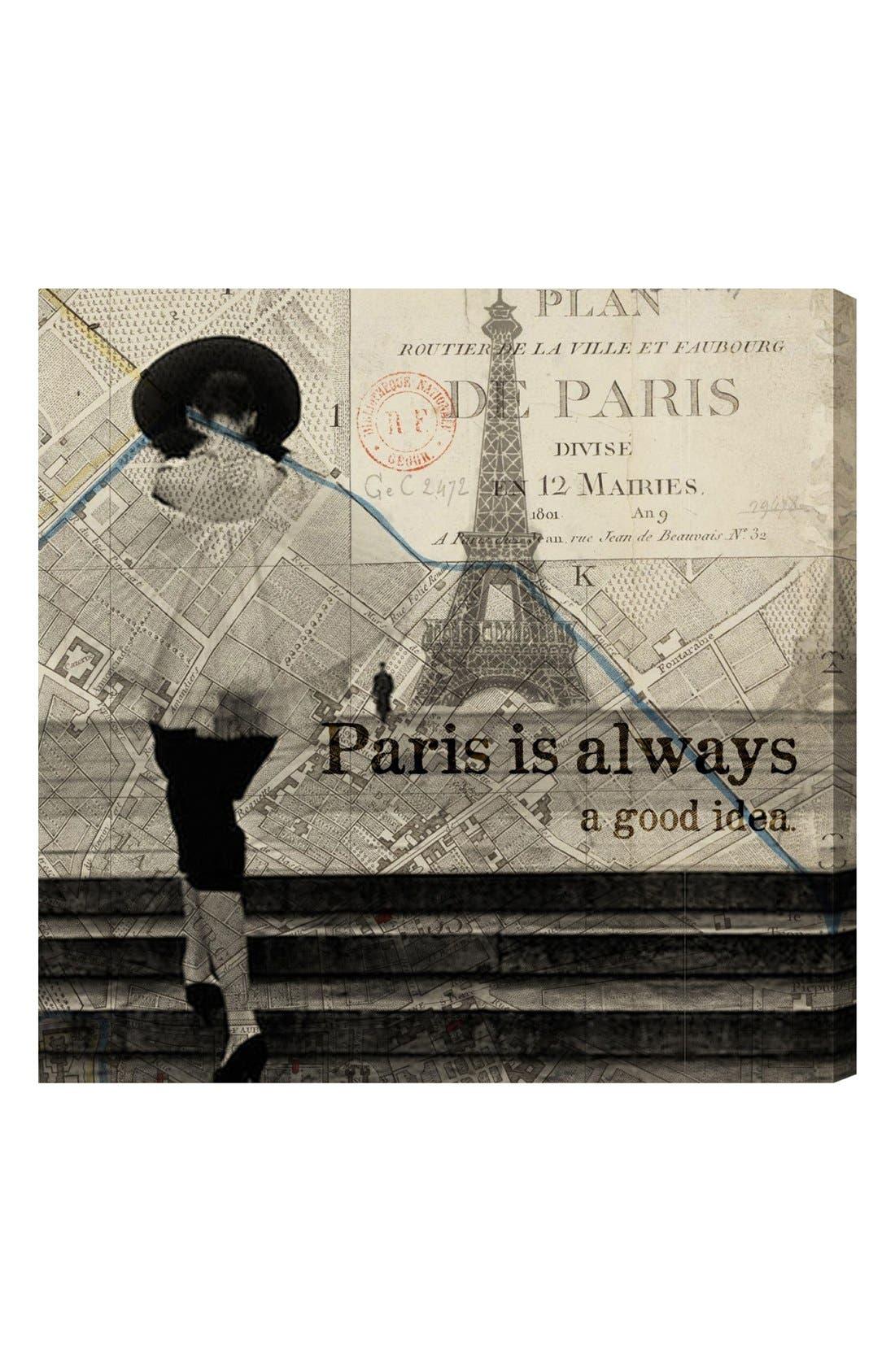 Main Image - Oliver Gal 'Paris Is Always a Good Idea' Wall Art