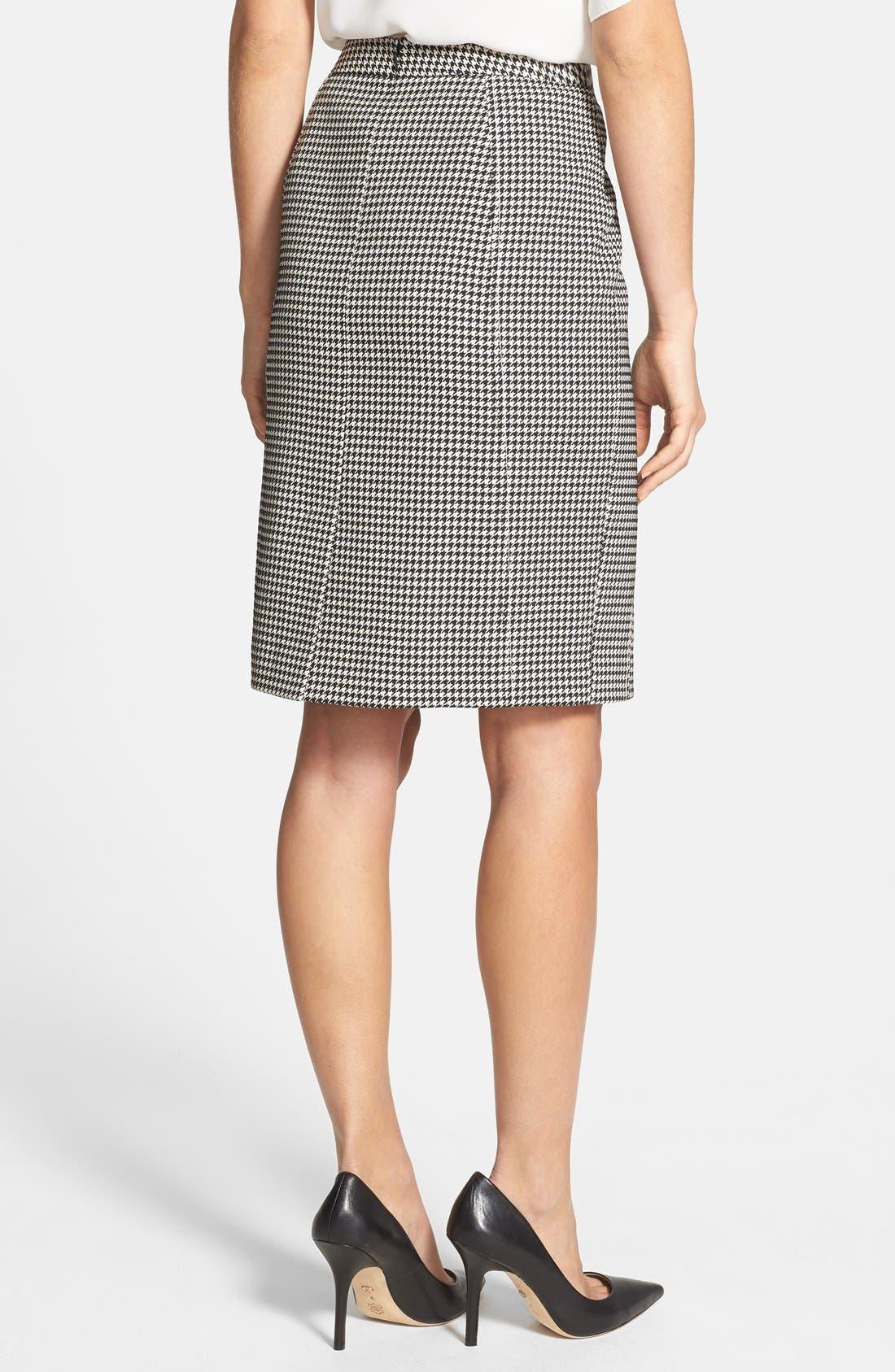 Alternate Image 2  - Halogen® Seamed Pencil Skirt (Regular & Petite)