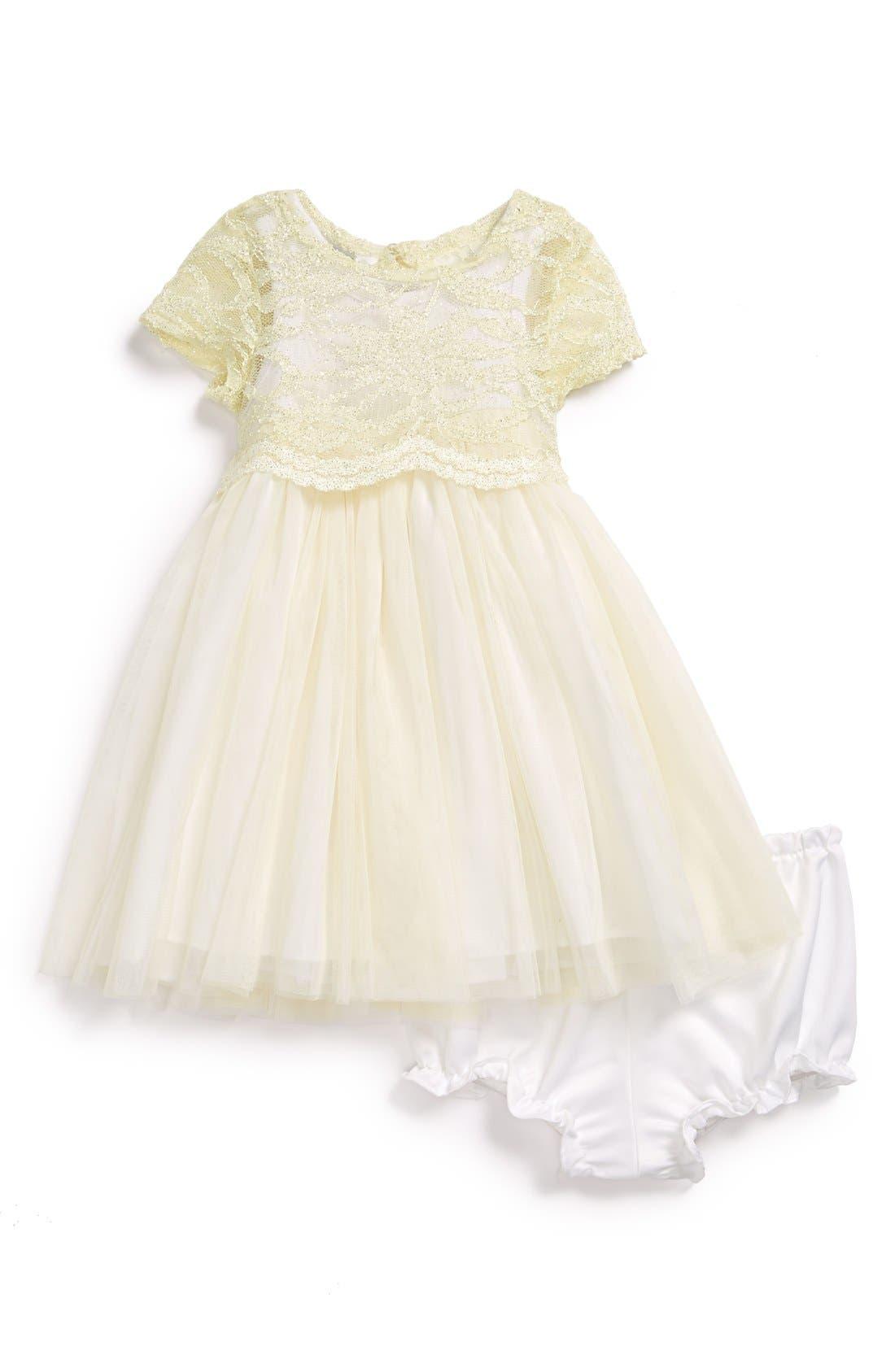 Alternate Image 1 Selected - Pippa & Julie 'Princess' Dress & Bloomers (Baby Girls)