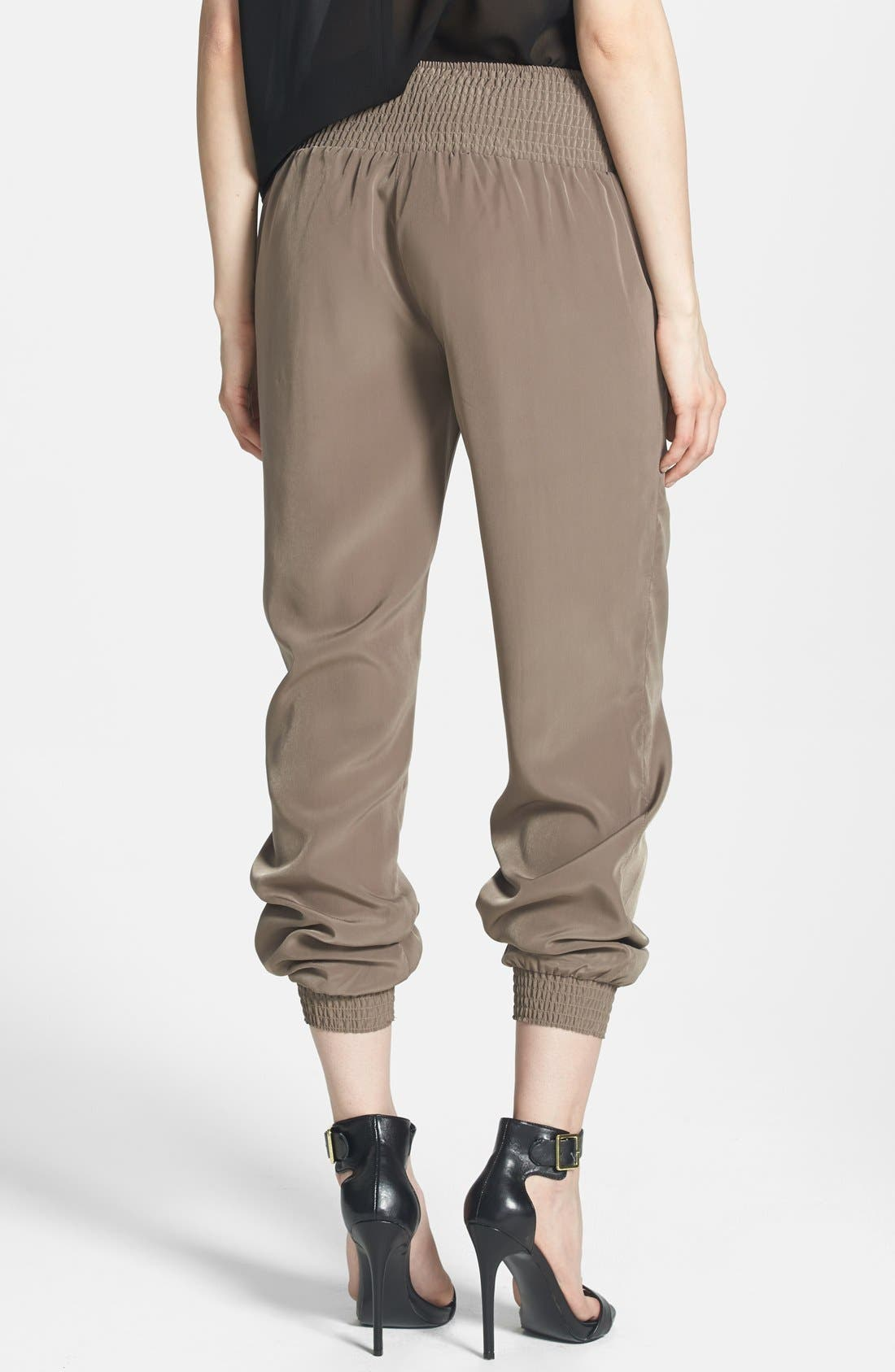 Alternate Image 2  - RD Style Ruched Waist Track Pants
