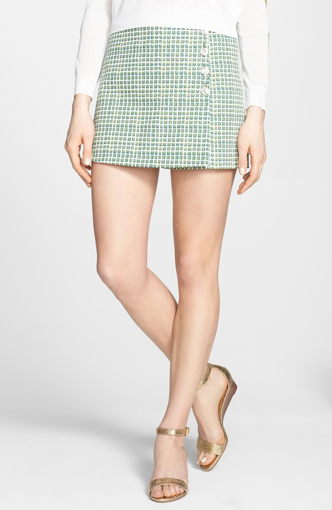 Alternate Image 1 Selected - Tory Burch 'Marlene' Print Skort