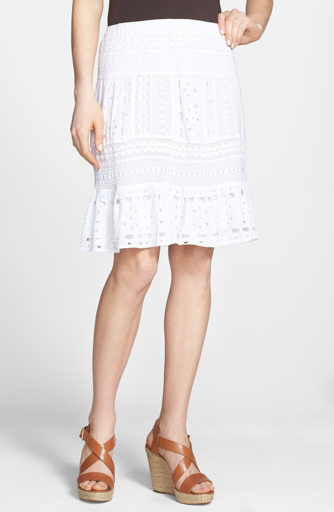Alternate Image 1 Selected - MICHAEL Michael Kors Eyelet Skirt
