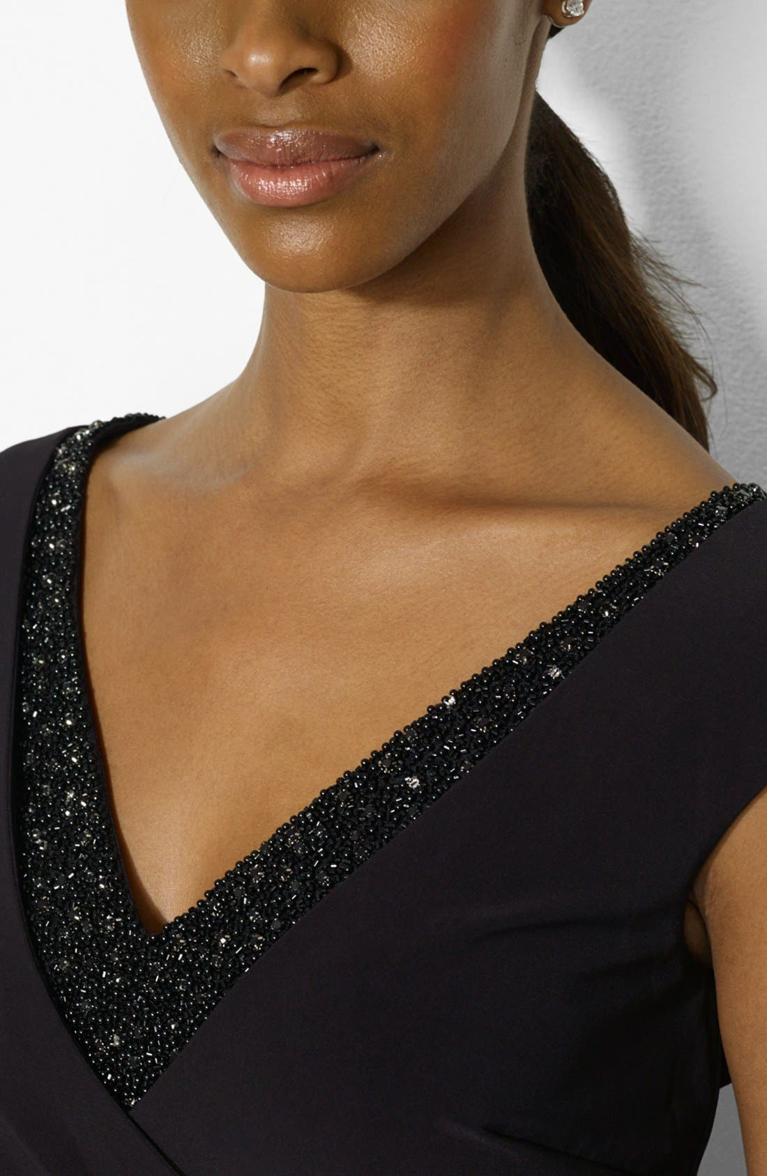 Alternate Image 4  - Lauren Ralph Lauren Embellished Cap Sleeve Jersey Sheath Dress