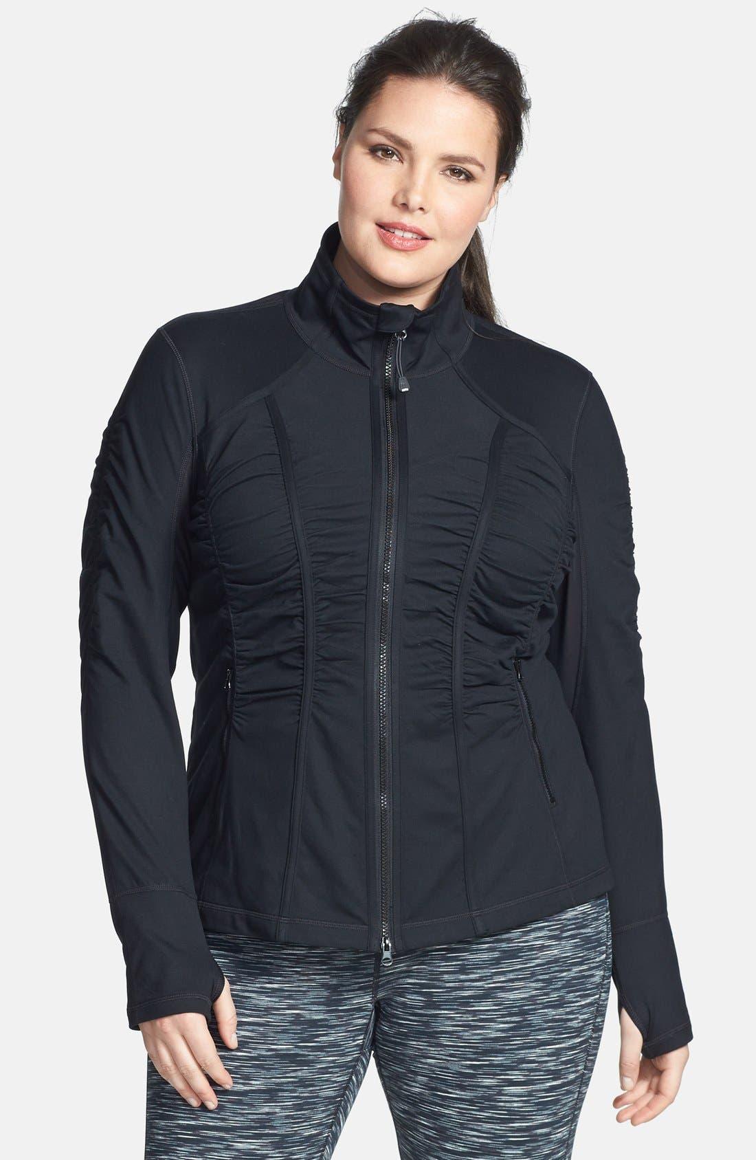 Main Image - Zella 'Trinity' Jacket (Plus Size)