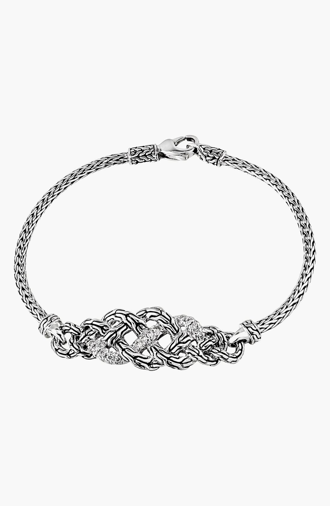 Main Image - John Hardy 'Classic Chain' Diamond Pavé Station Bracelet