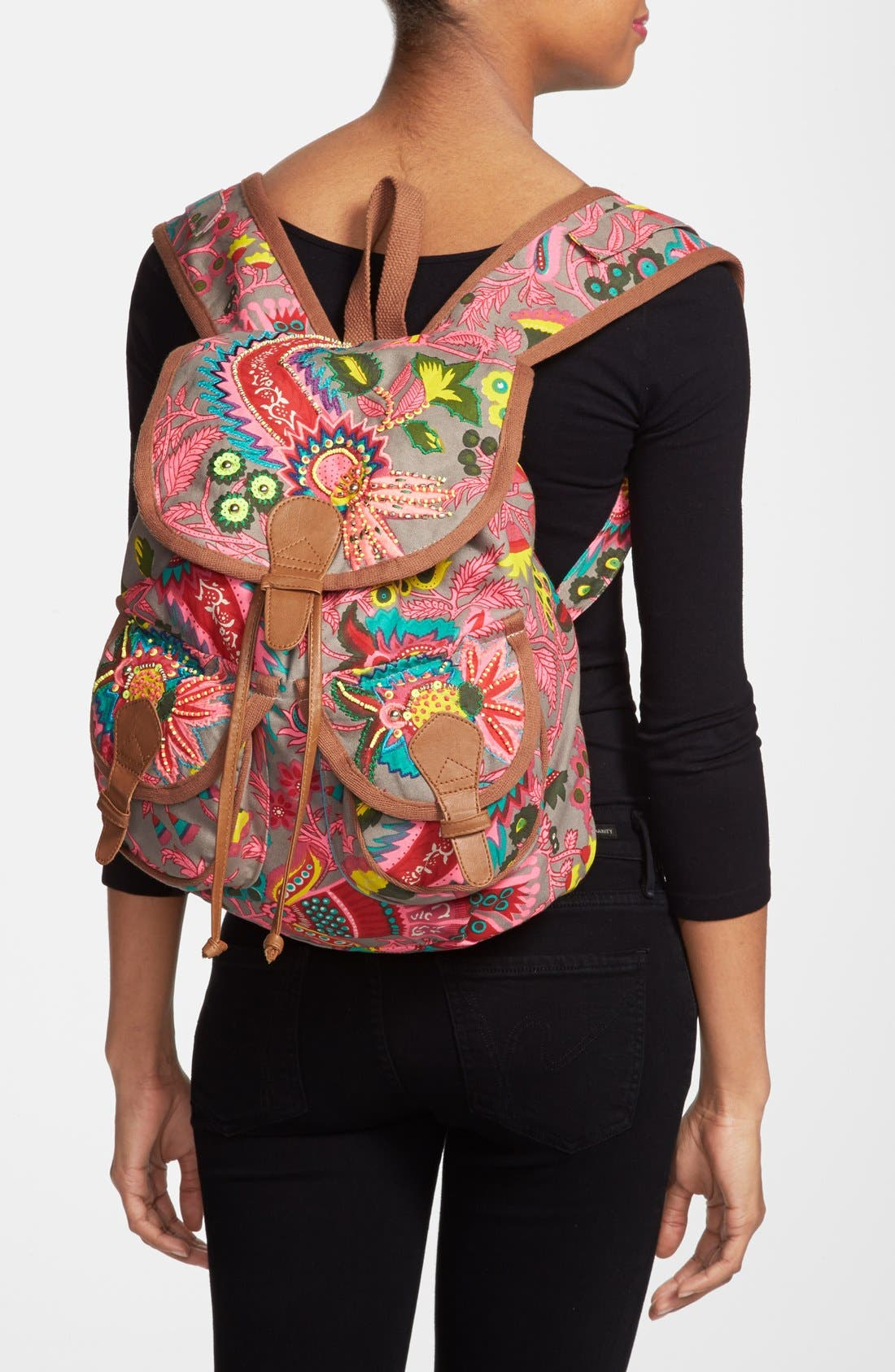 Alternate Image 2  - Steve Madden Beaded Canvas Backpack