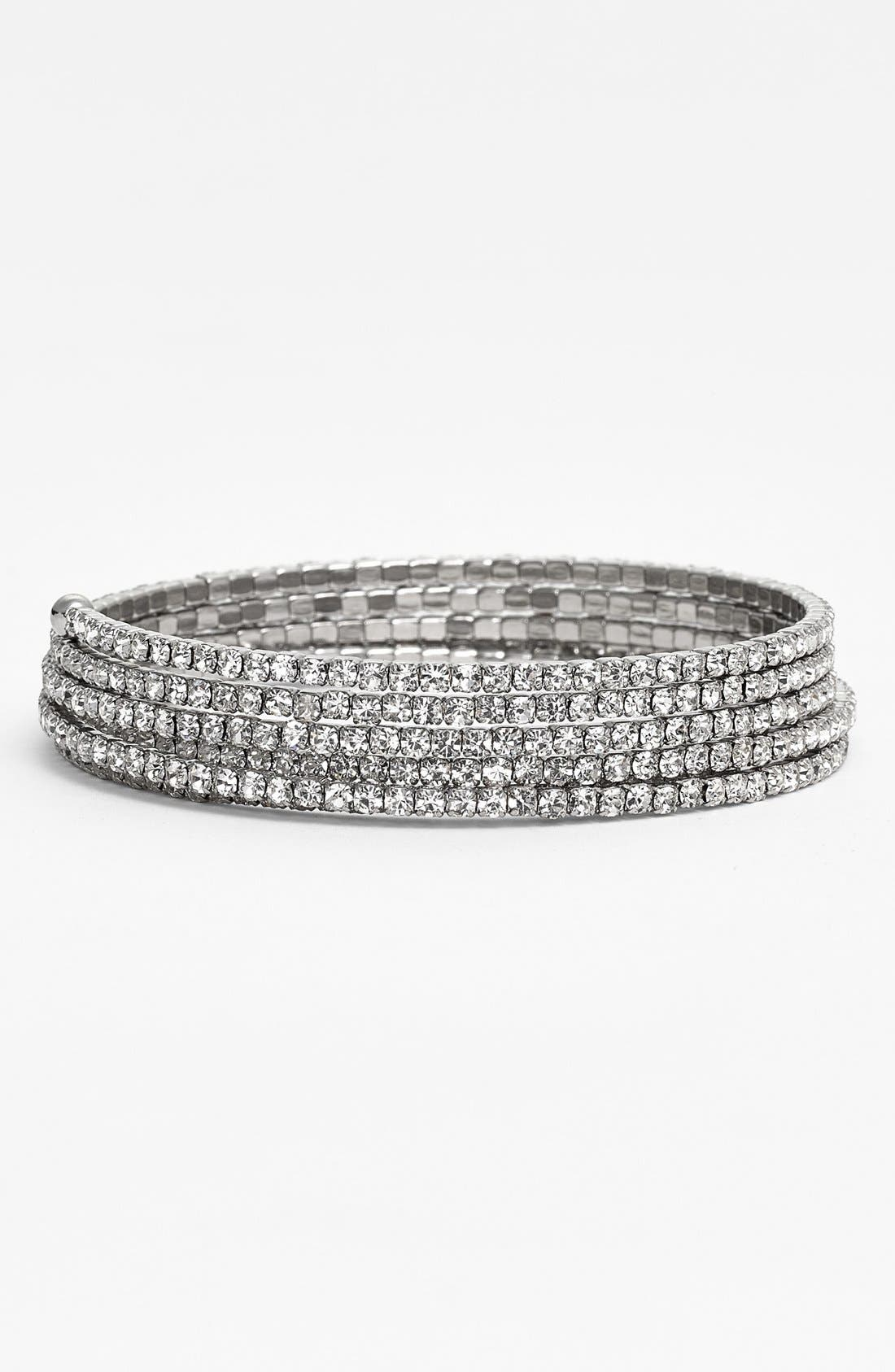 Alternate Image 1 Selected - Nordstrom 'Occasion' Crystal Coil Bracelet