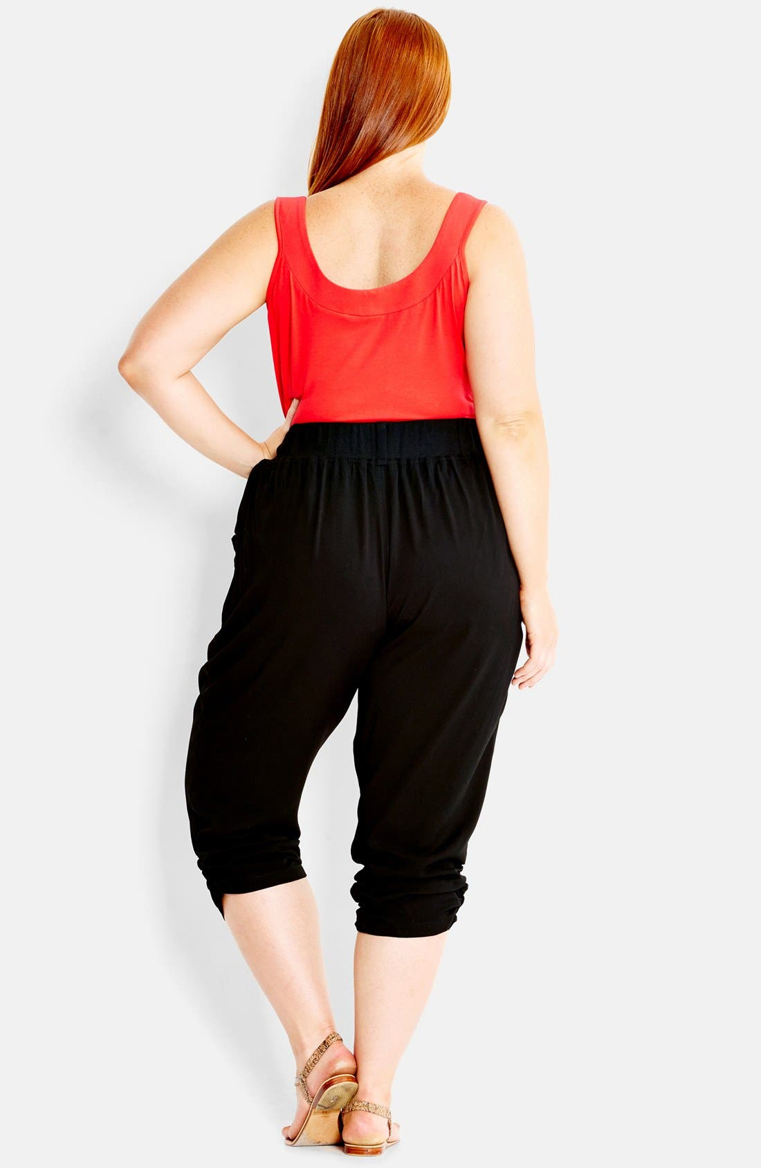 Alternate Image 2  - City Chic 'Drapey' Knit Harem Pants (Plus Size)