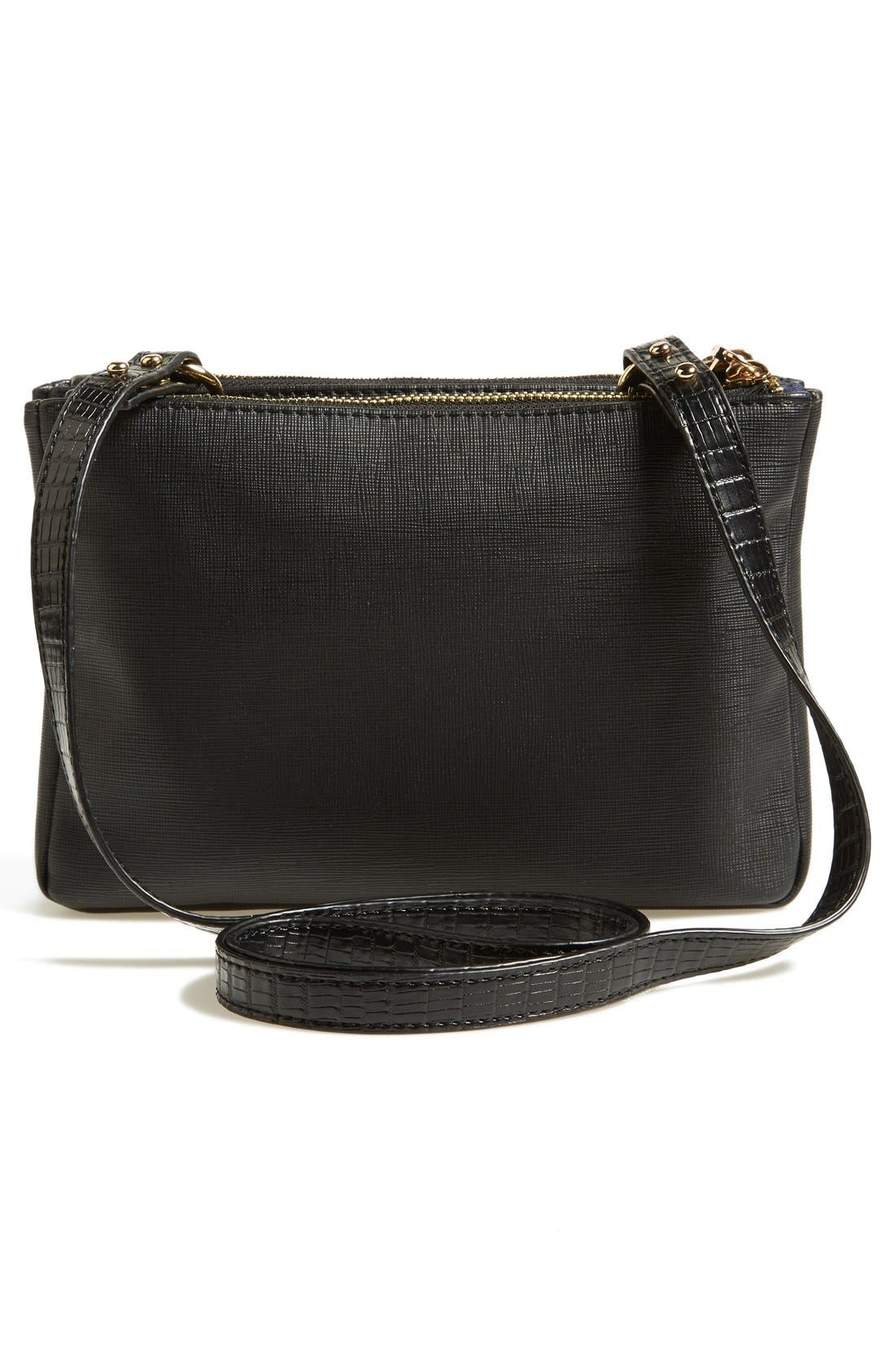Alternate Image 4  - French Connection 'Mini Gypsy' Faux Leather Crossbody Bag