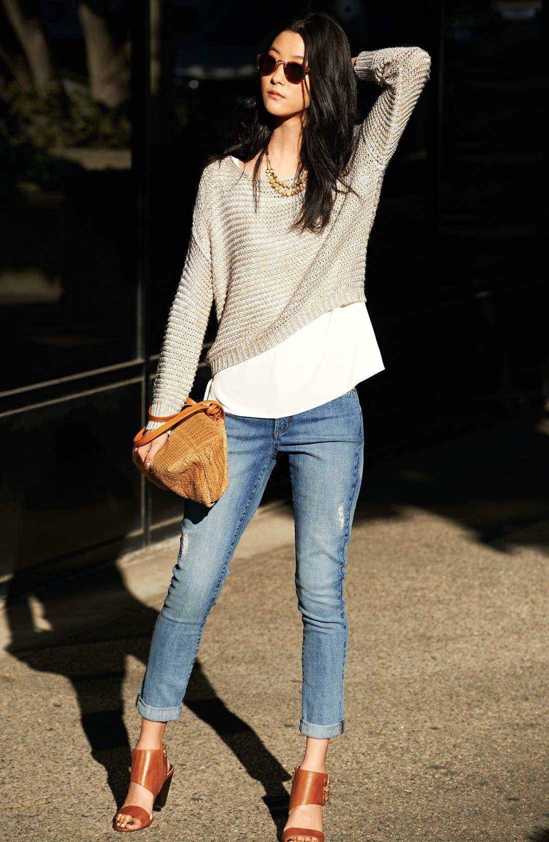 Alternate Image 2  - NYDJ 'Anabelle' Stretch Skinny Jeans (Angora Lake) (Regular & Petite)