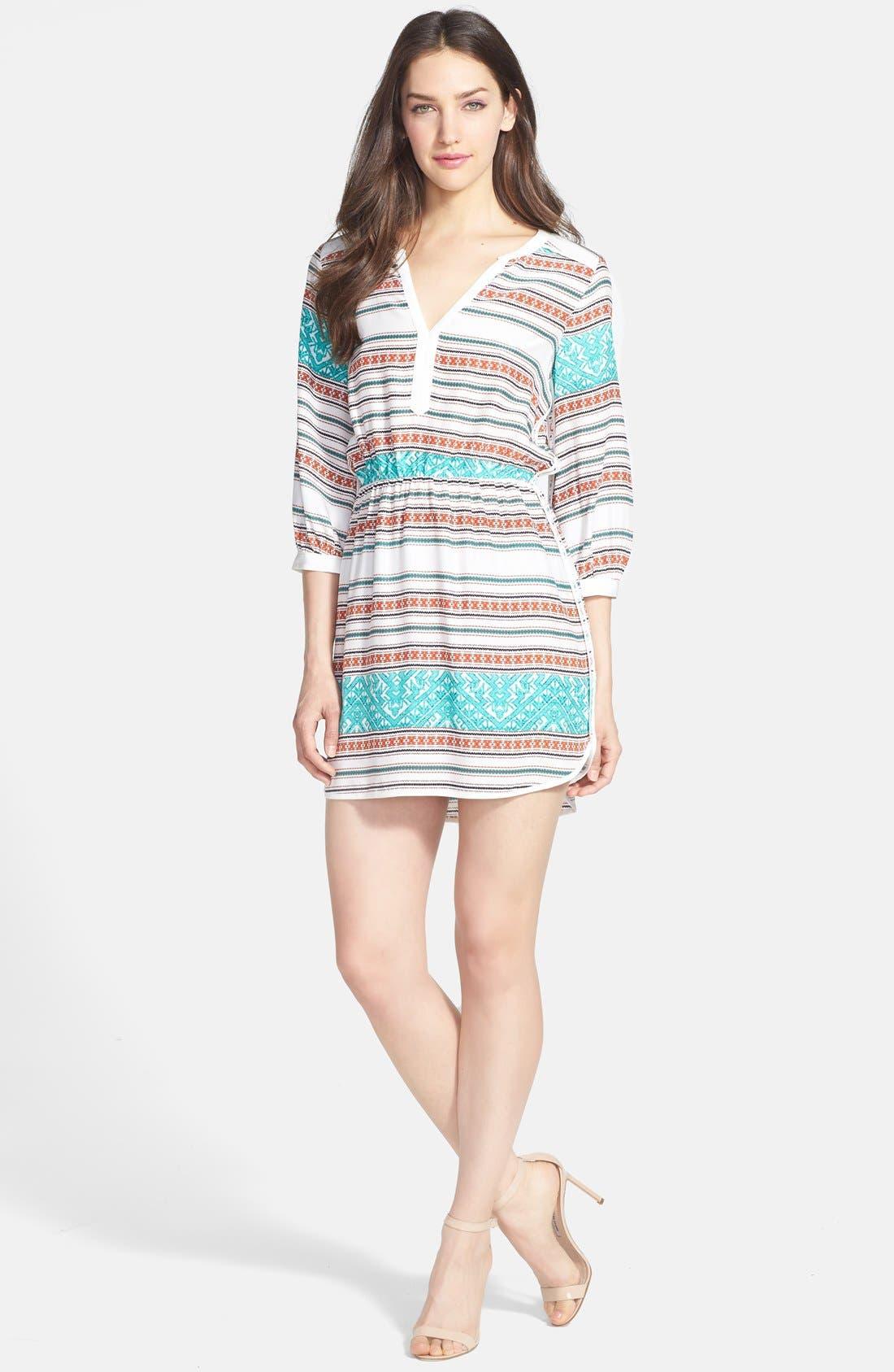 Main Image - Parker 'Mallory' Split Neck Silk Dress