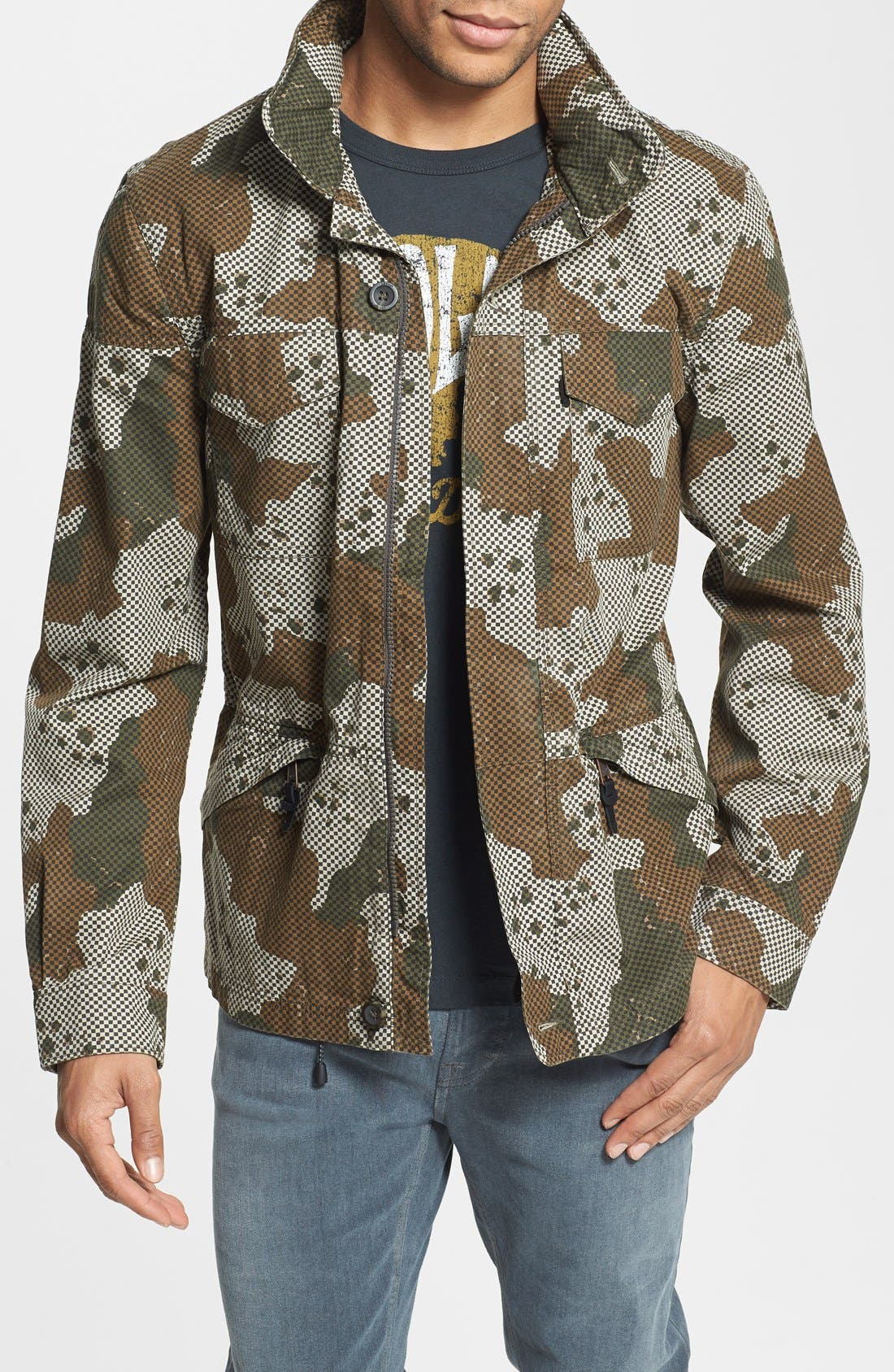 Alternate Image 1 Selected - Levi's® Check & Camo Print Field Jacket