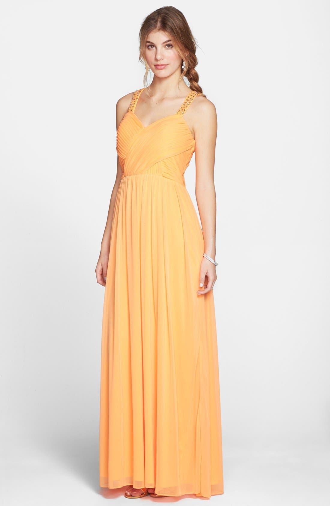 Main Image - Hailey Logan 'Tina' Cutout Embellished Gown (Juniors)