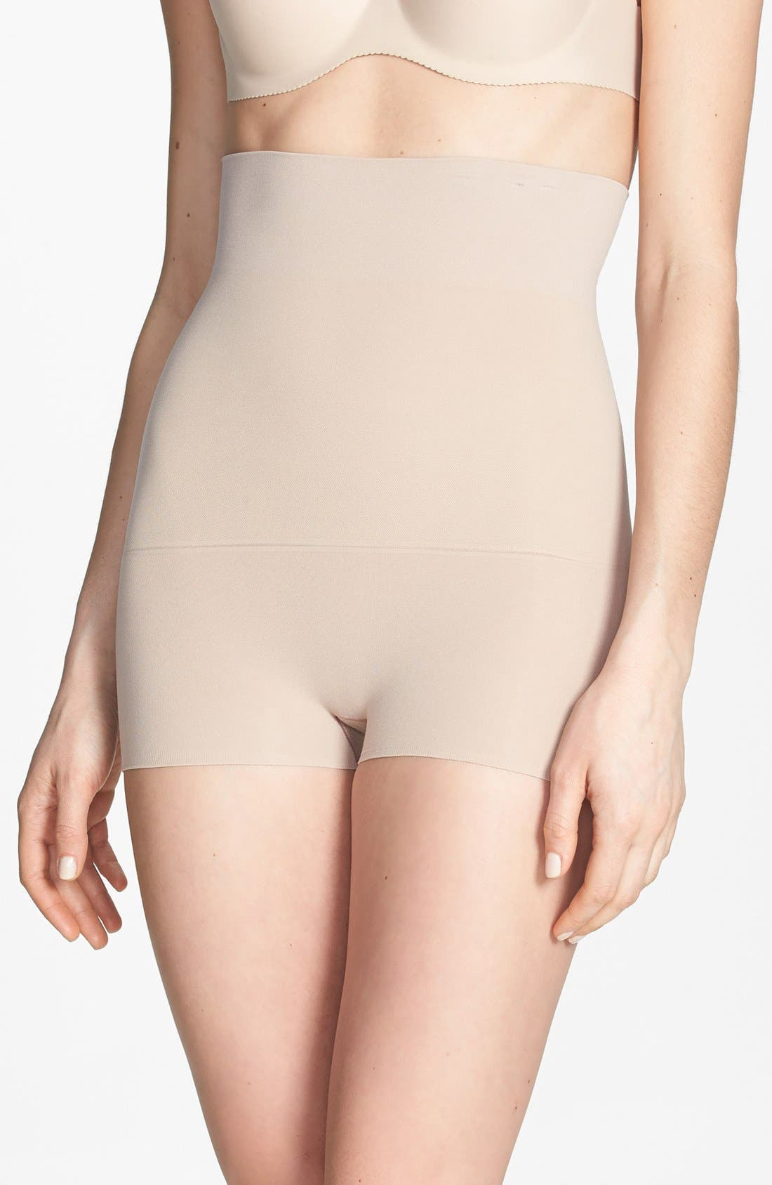 Alternate Image 1 Selected - SPANX® 'Haute Contour' High Waist Smoother Shorts