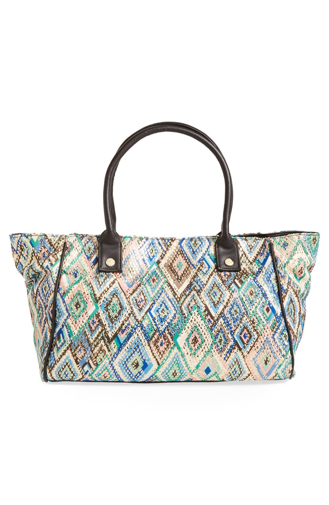 Alternate Image 2  - pretty ships 'Bahia' Print Fabric & Faux Leather Tote