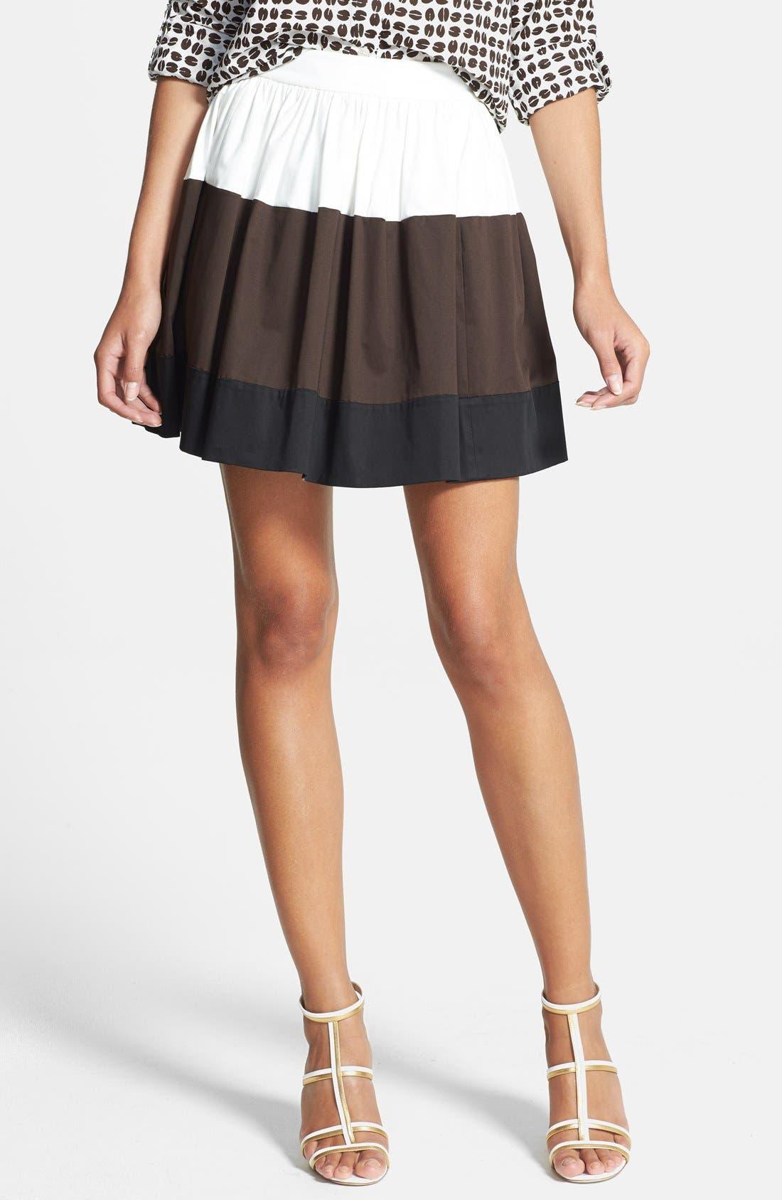 Main Image - kate spade new york 'coreen' colorblock skirt