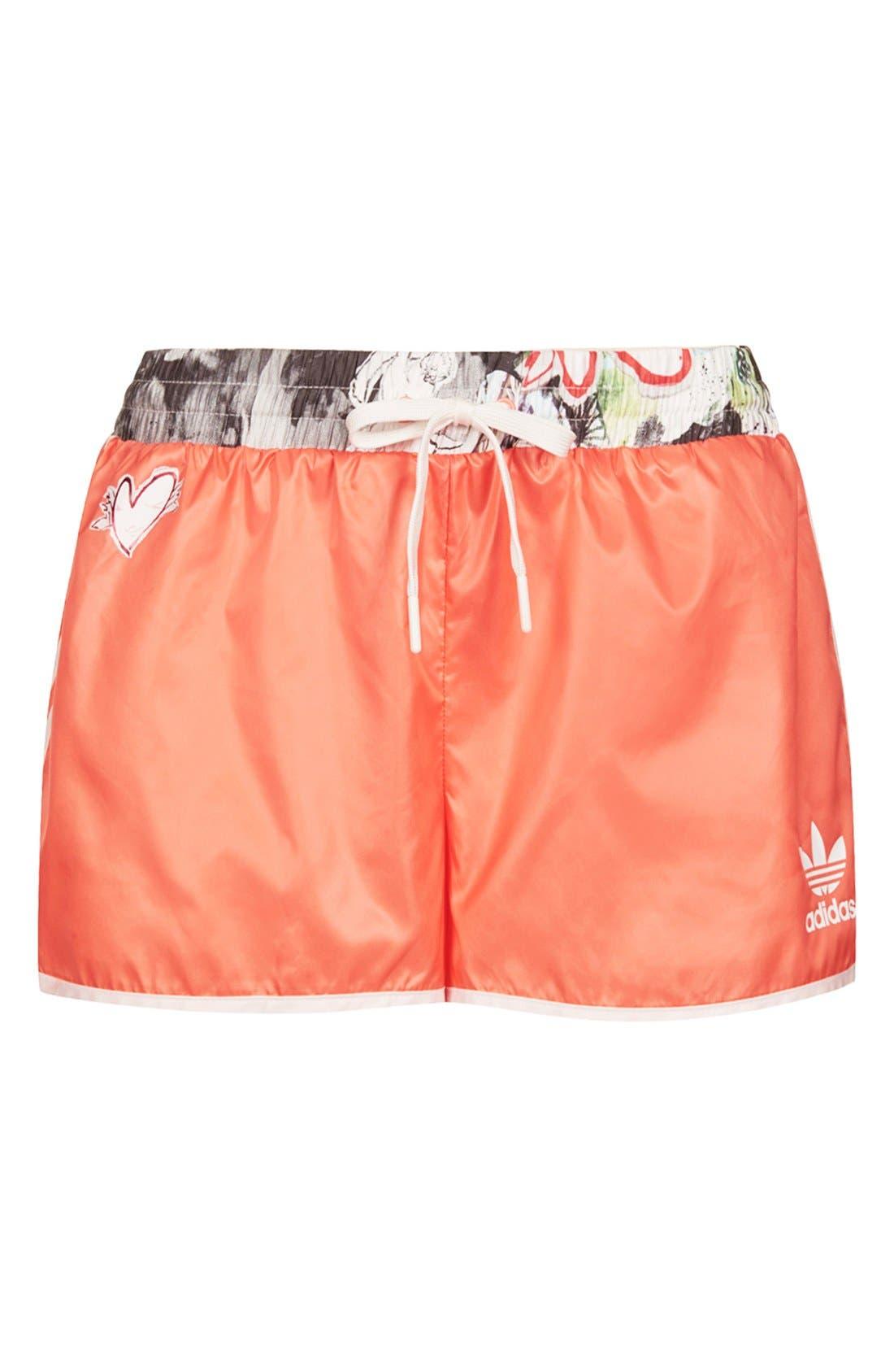 Alternate Image 3  - Topshop x adidas Originals Orange Shorts